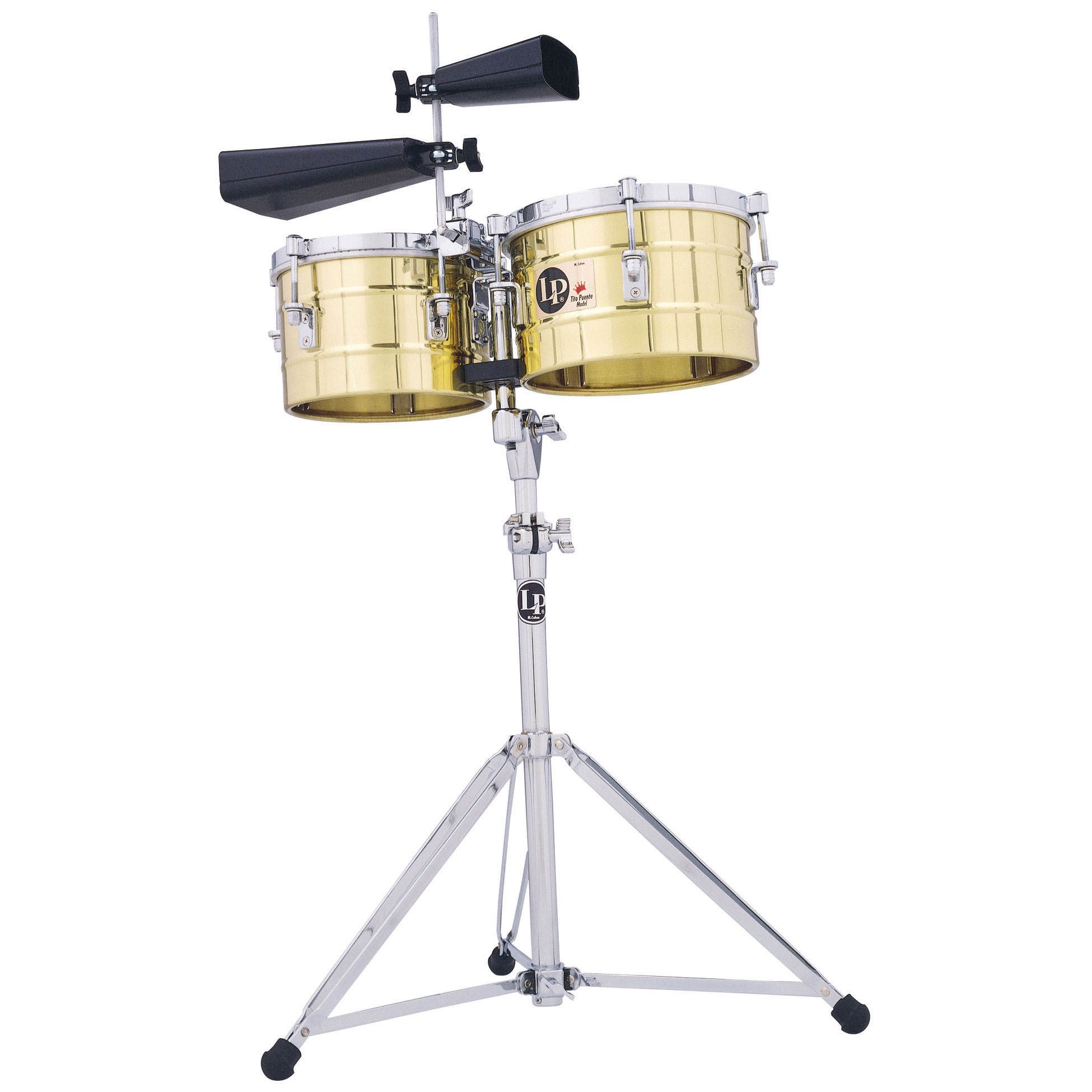 """LP 9.25/10.25"""" Tito Puente Brass Timbalitos (Small Timbales)"""