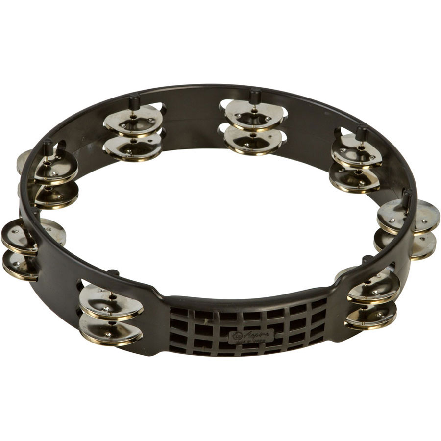 "LP 10"" Black Aspire Double Row Steel Tambourine"