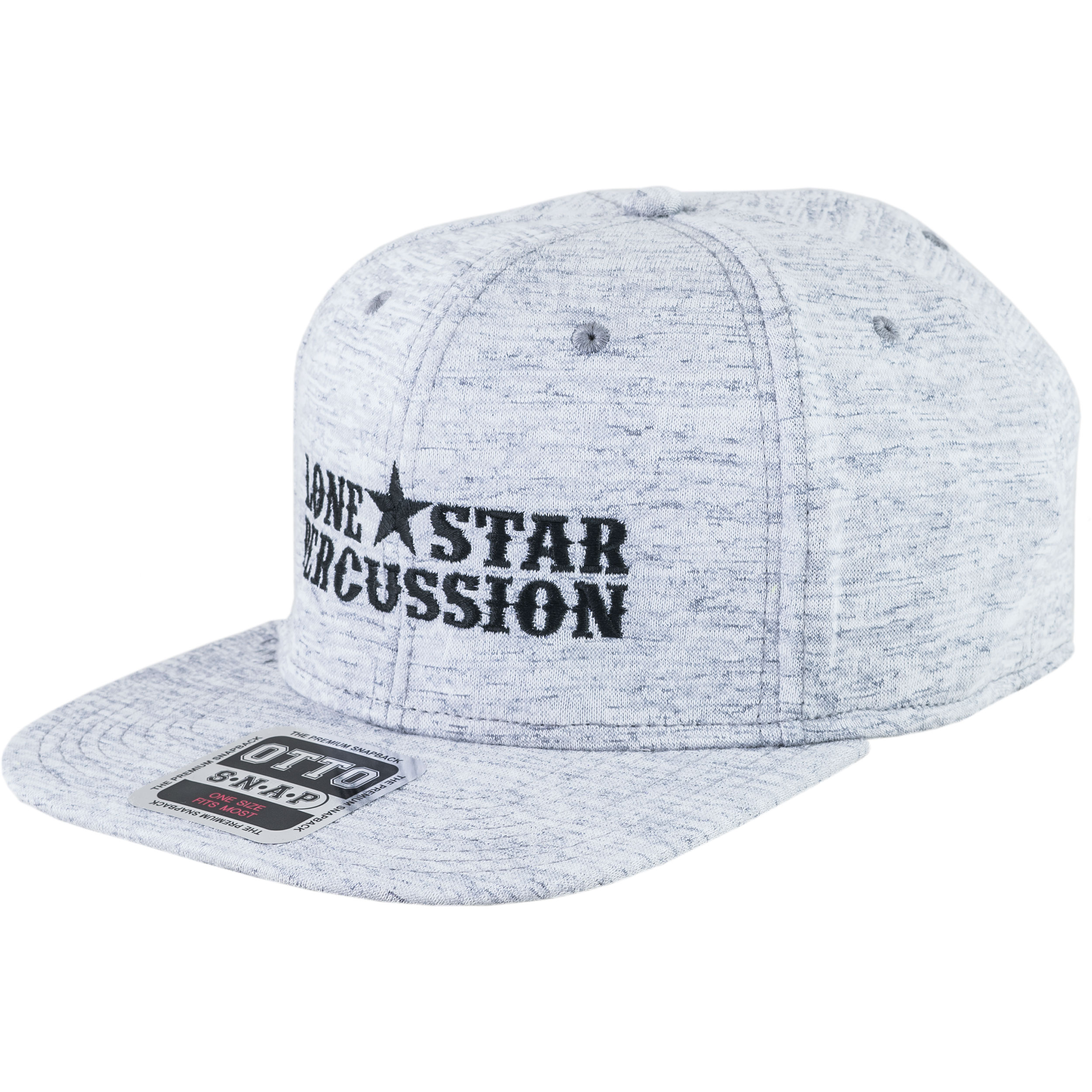 Lone Star Percussion Heather Gray Jersey Snapback Baseball Cap