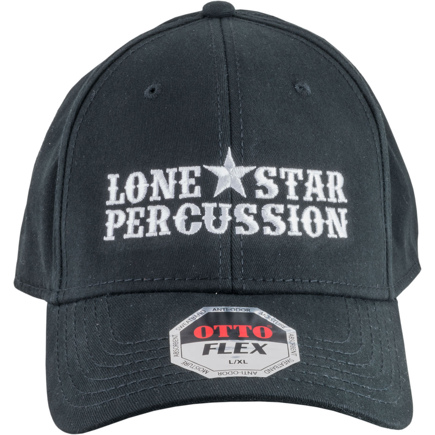 Lone Star Percussion Black and White Flex Fit Cap