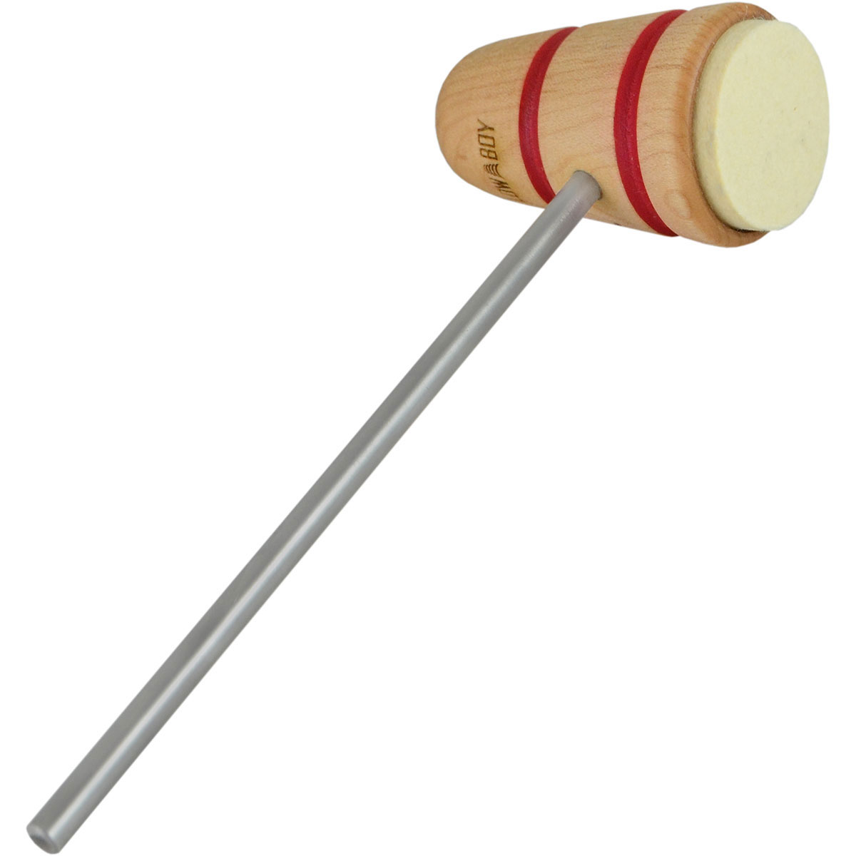 Low Boy Standard Felt Daddy Bass Drum Beater with Stripes