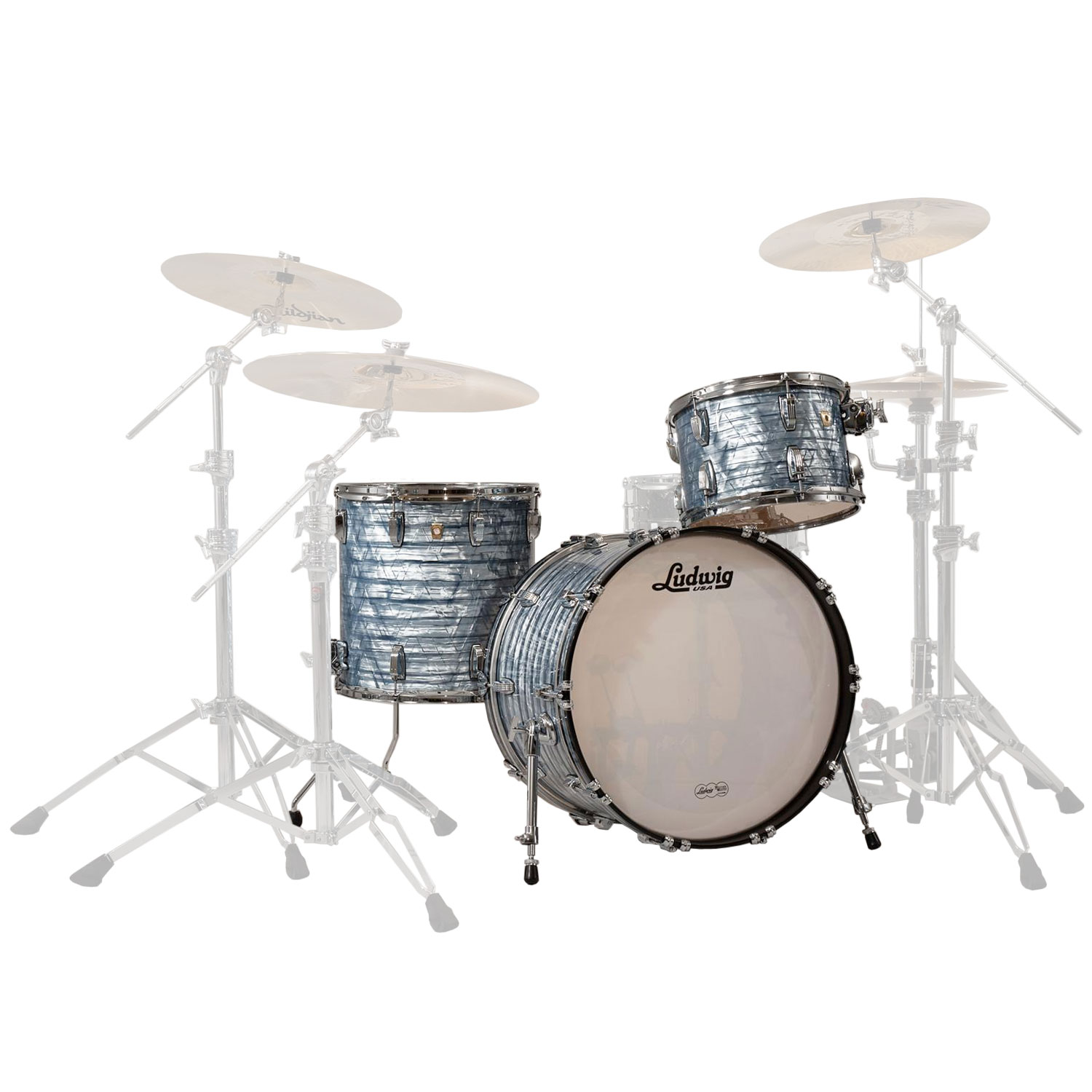 "Ludwig Classic Maple Fab22 3-Piece Drum Set Shell Pack (22"" Bass, 13/16"" Toms)"