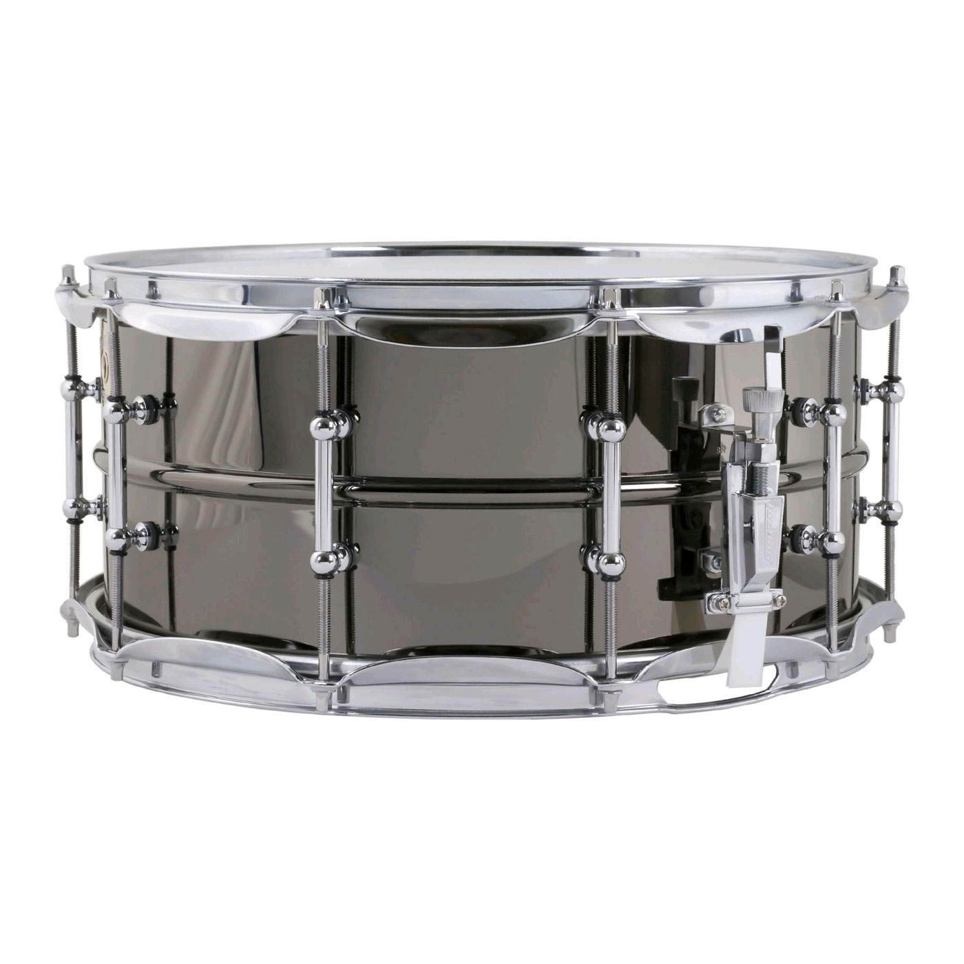"Ludwig 6.5"" x 14"" Black Beauty Brass Snare Drum with Tube Lugs and Chrome Hardware"