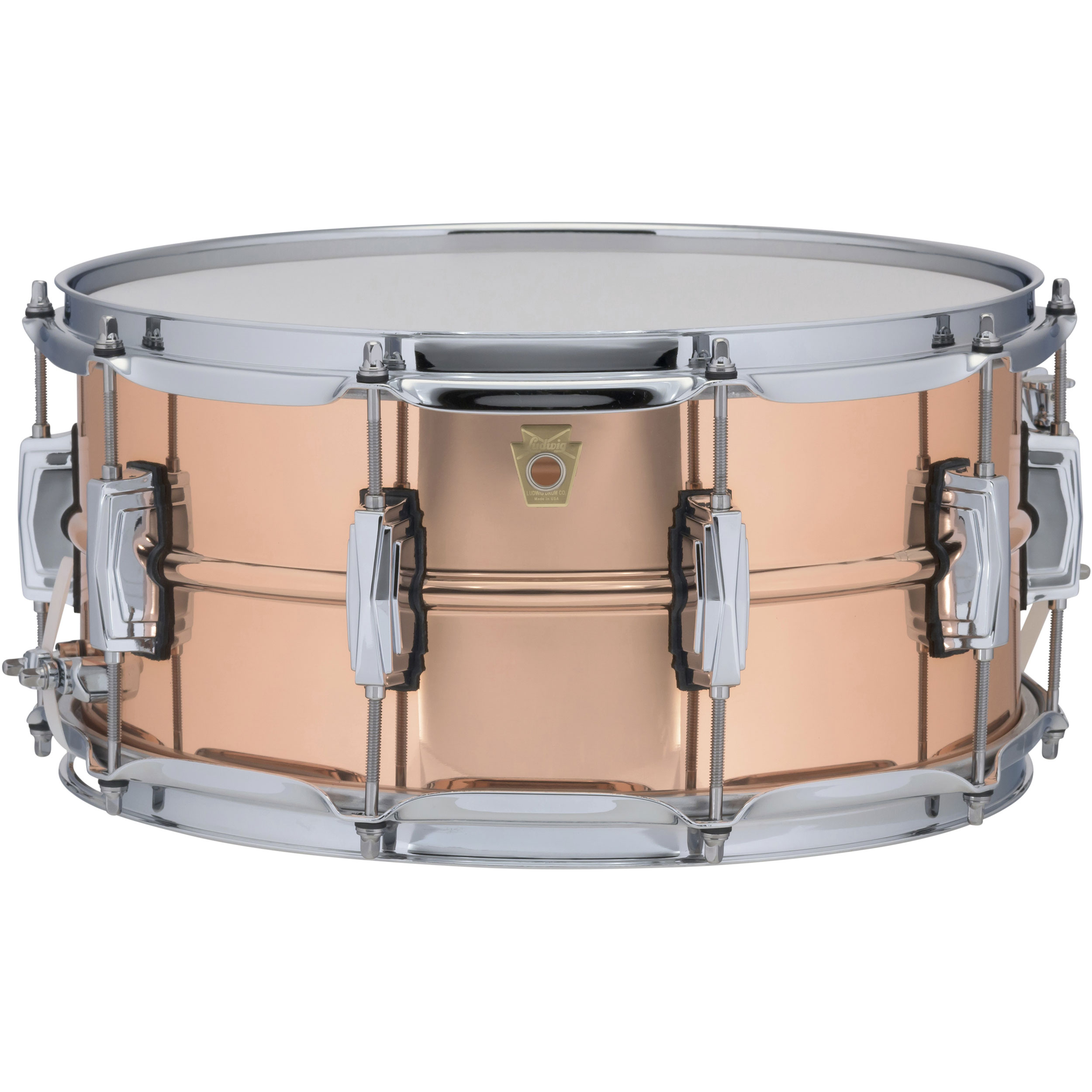 "Ludwig 6.5"" x 14"" Smooth Copper Phonic Snare Drum with Imperial Lugs"