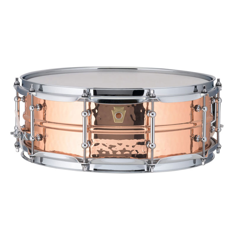 "Ludwig 5"" x 14"" Hammered Copper Phonic Snare Drum with Imperial Lugs"