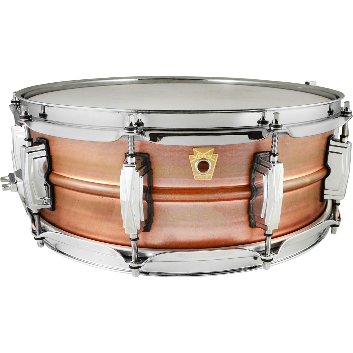 "Ludwig 5"" x 14"" Raw Copper Phonic Snare Drum with Imperial Lugs (Used)"