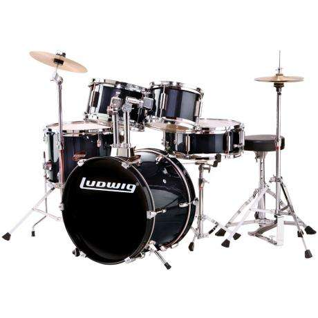 Ludwig 5-Piece Junior Drum Set with Hardware (16