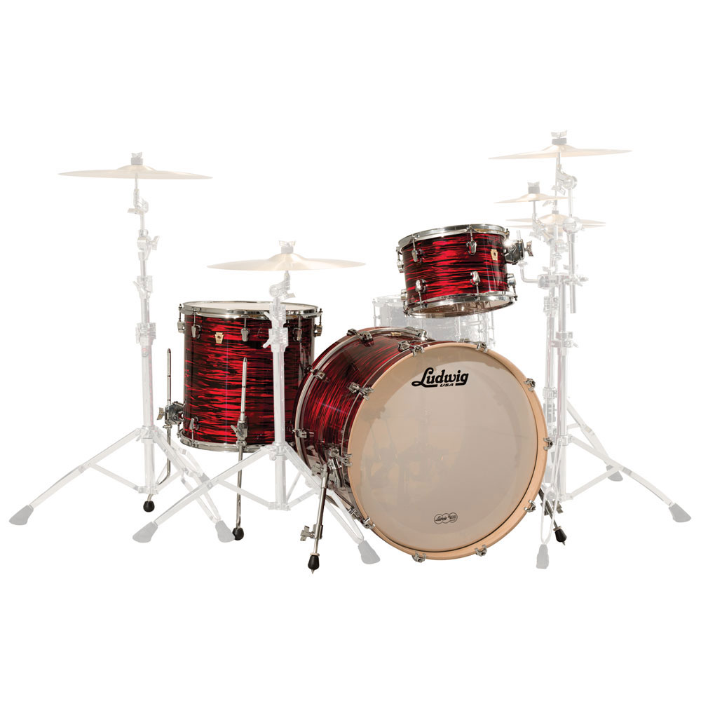 "Ludwig Keystone 3-Piece Drum Set Shell Pack (22"" Bass, 12/16"" Toms)"