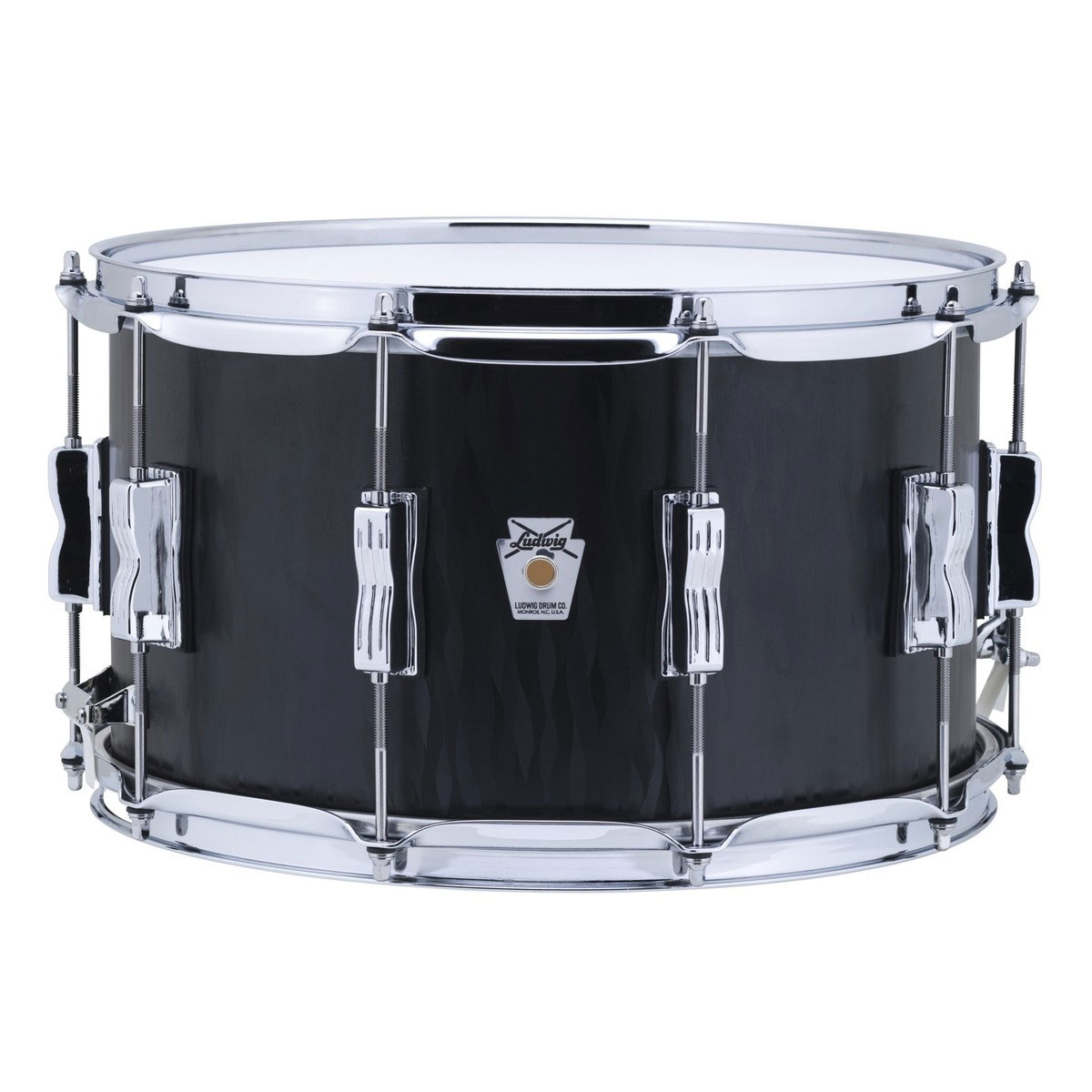 "Ludwig Limited Edition 8"" x 14"" Standard Maple Snare Drum in Black Flame"
