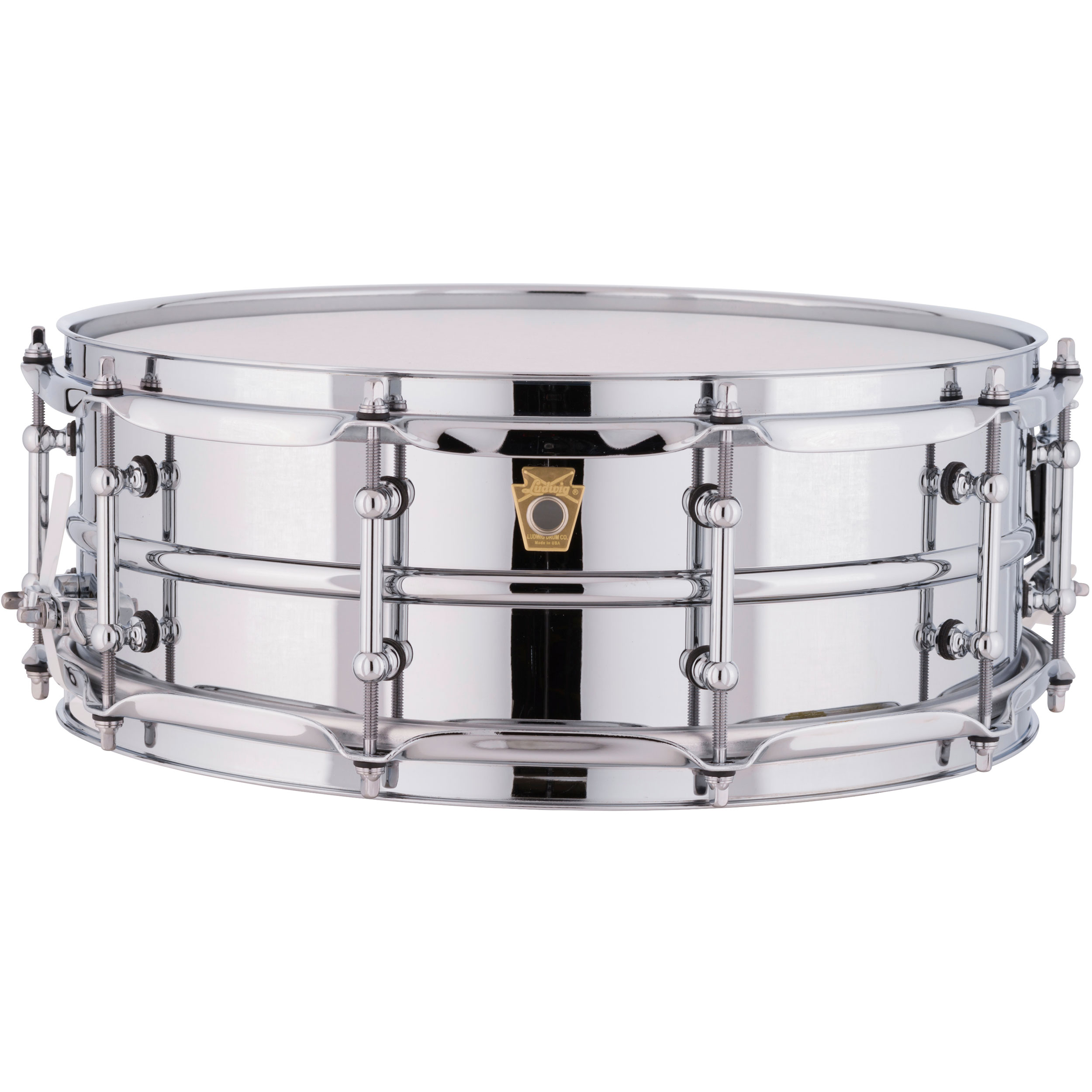 "Ludwig 5"" x 14"" Supraphonic Aluminum Snare Drum with Tube Lugs"