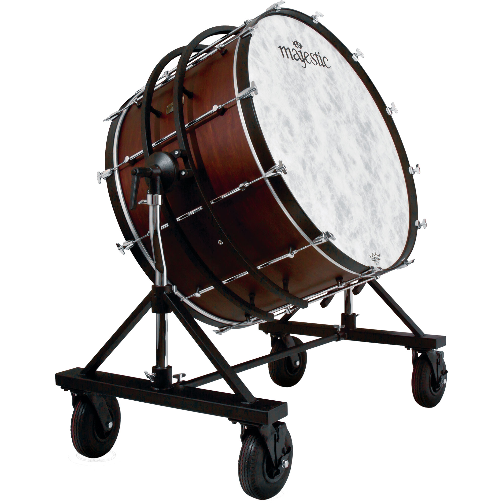 "Majestic 40"" (Diameter) x 22"" (Deep) Prophonic Concert Bass Drum with SSB Suspended Field Tilting Stand"