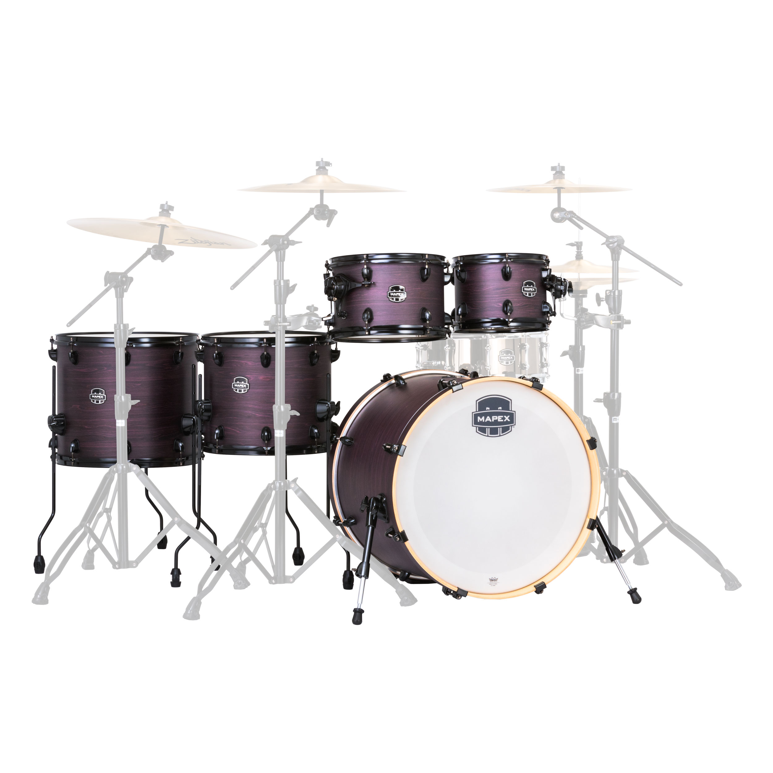 mapex armory 6 piece studioease fast drum set shell pack 22 bass 10 12 14 16 toms 14 snare. Black Bedroom Furniture Sets. Home Design Ideas