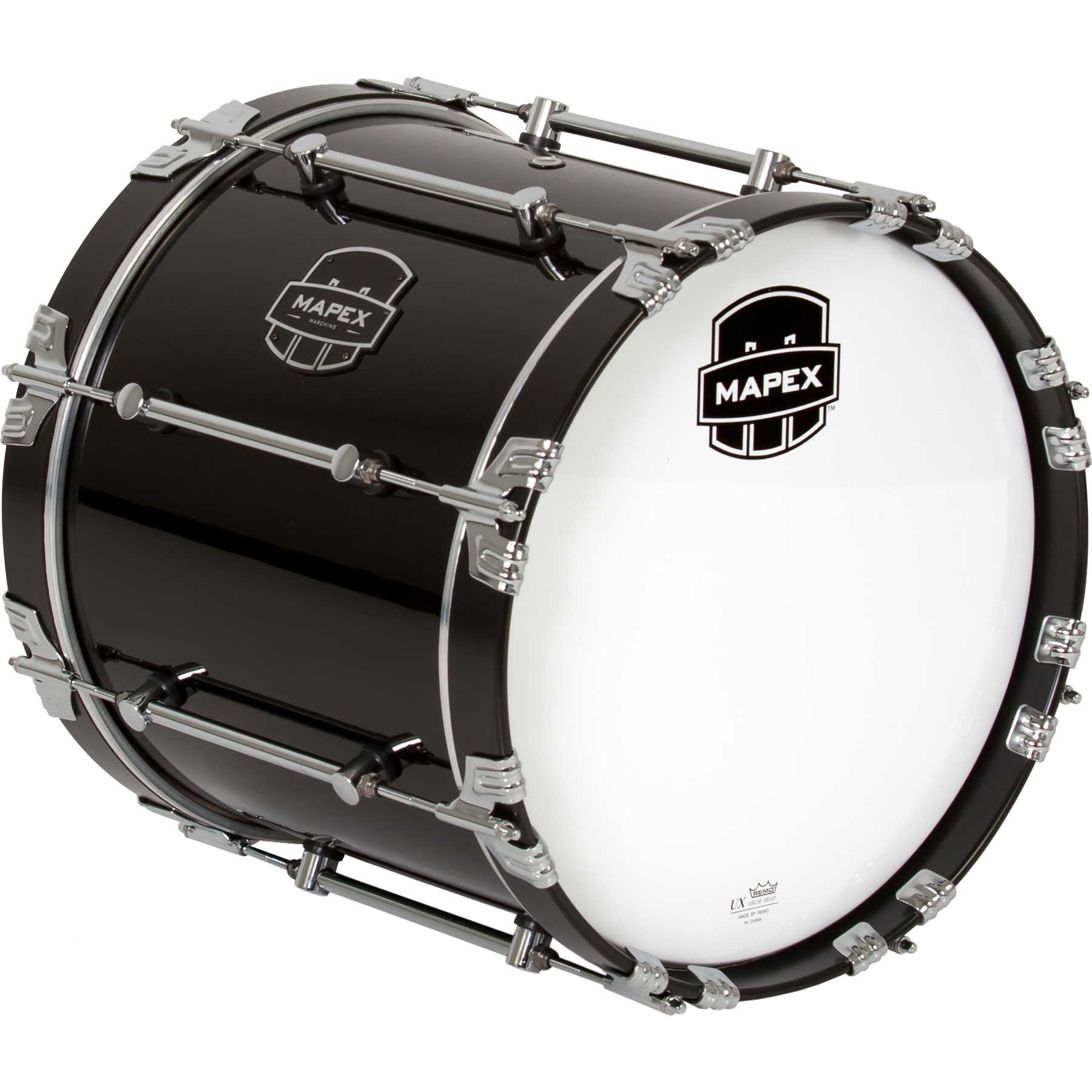 "Mapex 16"" Quantum Marching Bass Drum in Gloss Black"