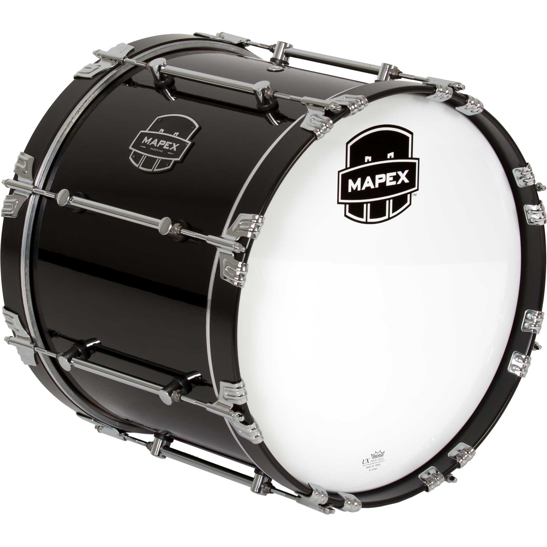 "Mapex 18"" Quantum Marching Bass Drum in Gloss Black"