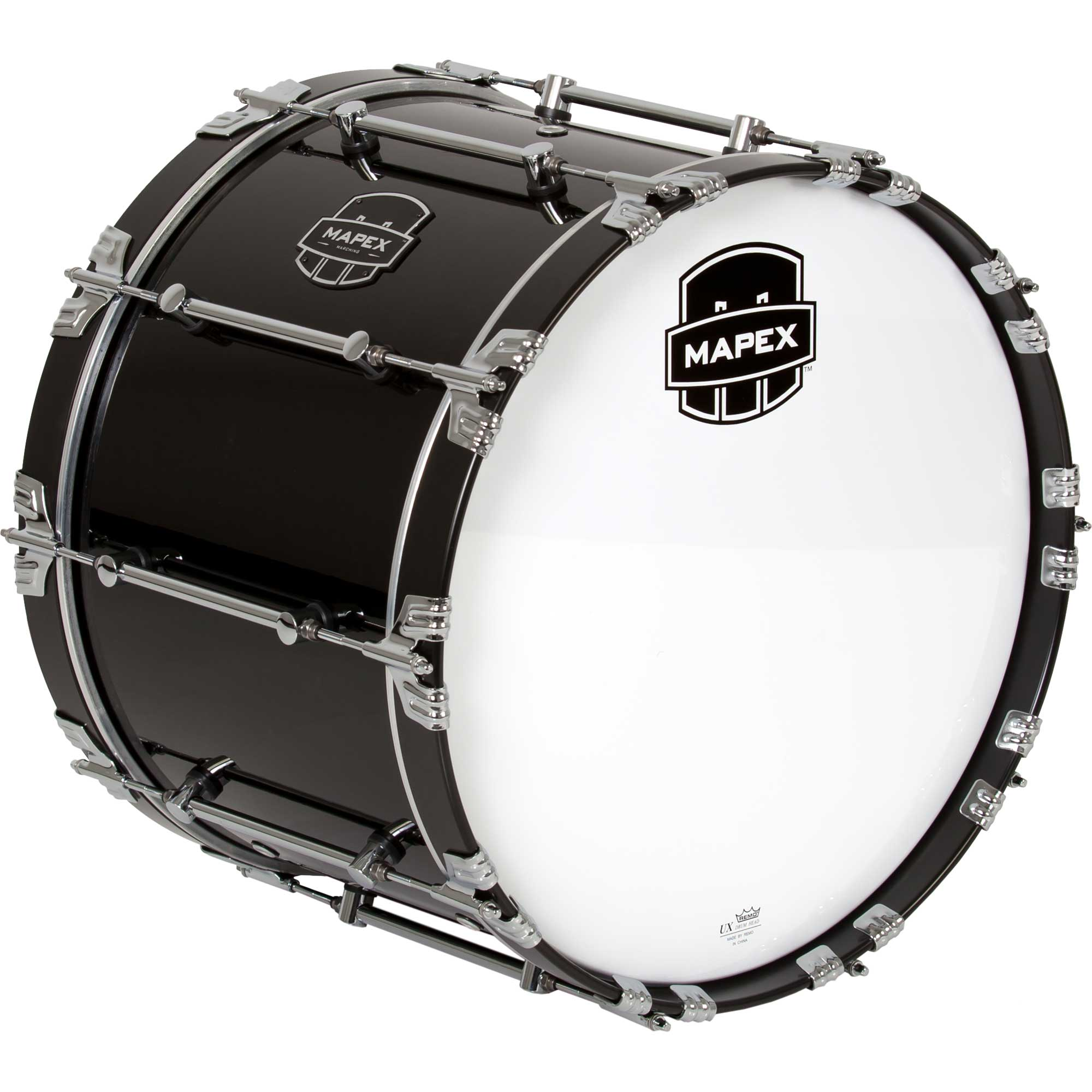 "Mapex 22"" Quantum Marching Bass Drum in Gloss Black"