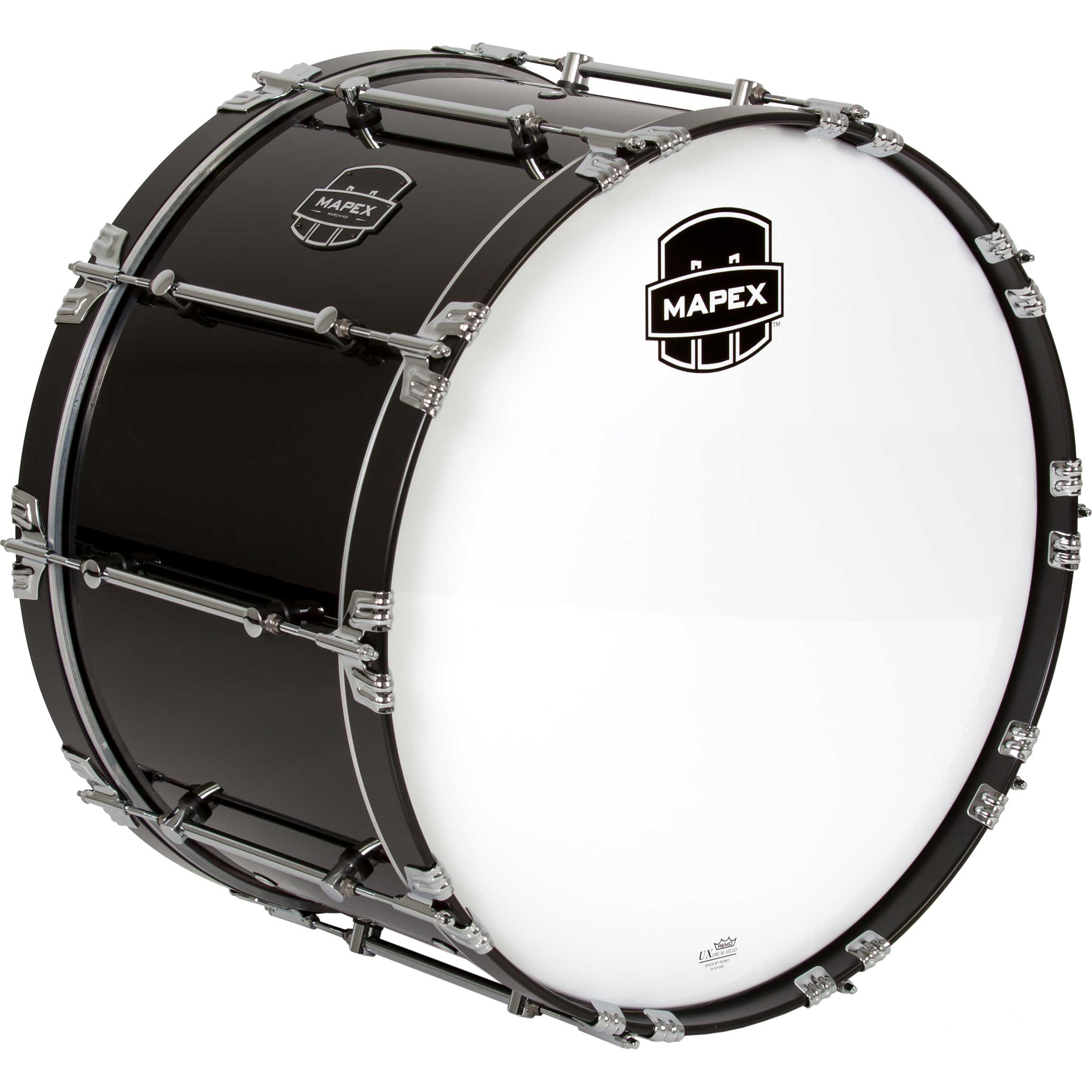 "Mapex 24"" Quantum Marching Bass Drum in Gloss Black"