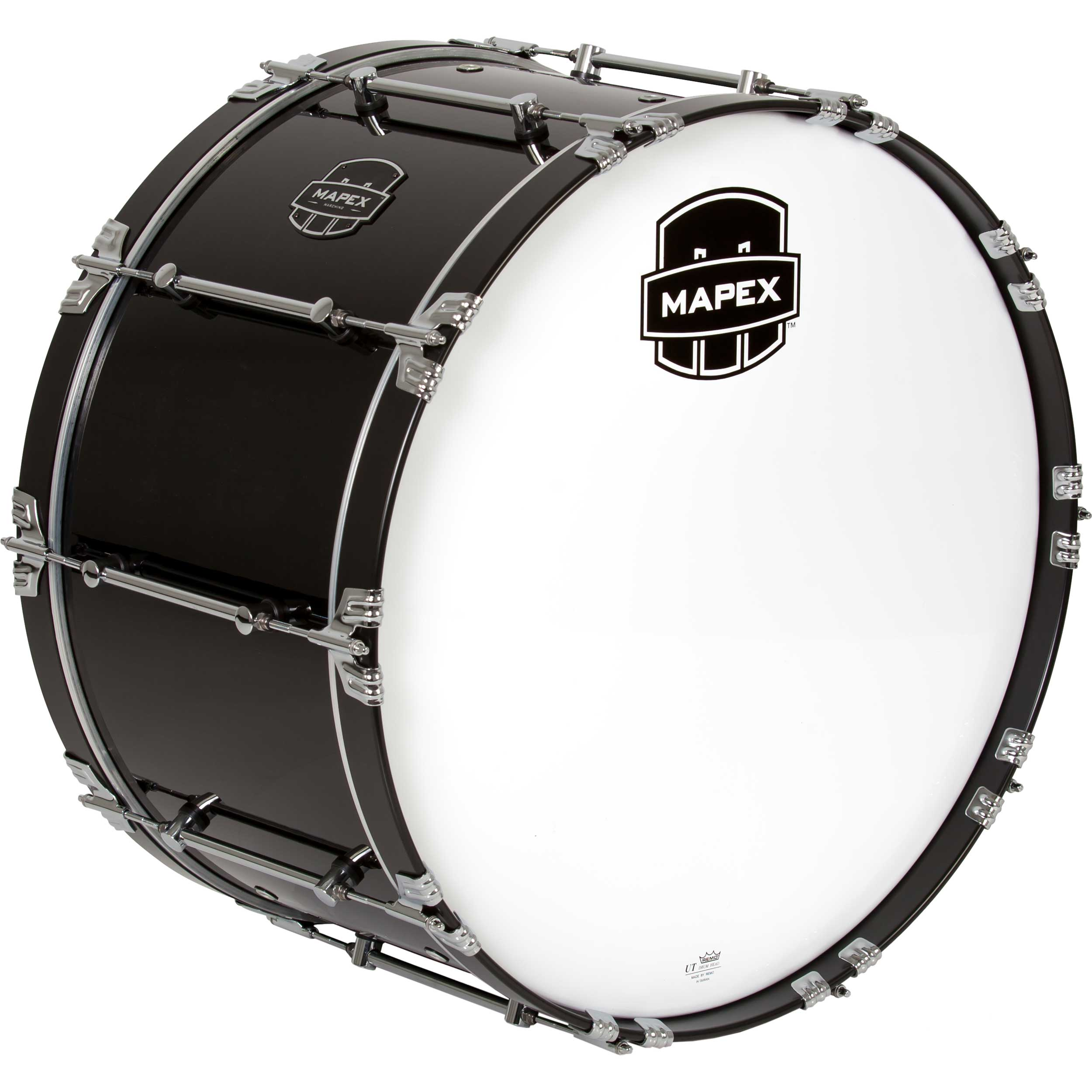 mapex 26 quantum marching bass drum in gloss black qcb2614 bl gc. Black Bedroom Furniture Sets. Home Design Ideas