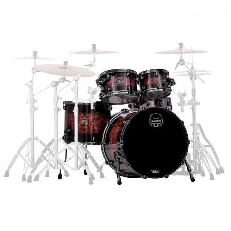 Mapex Saturn IV MH Exotic 4-Piece Rock Fast Drum Set Shell Pack (22