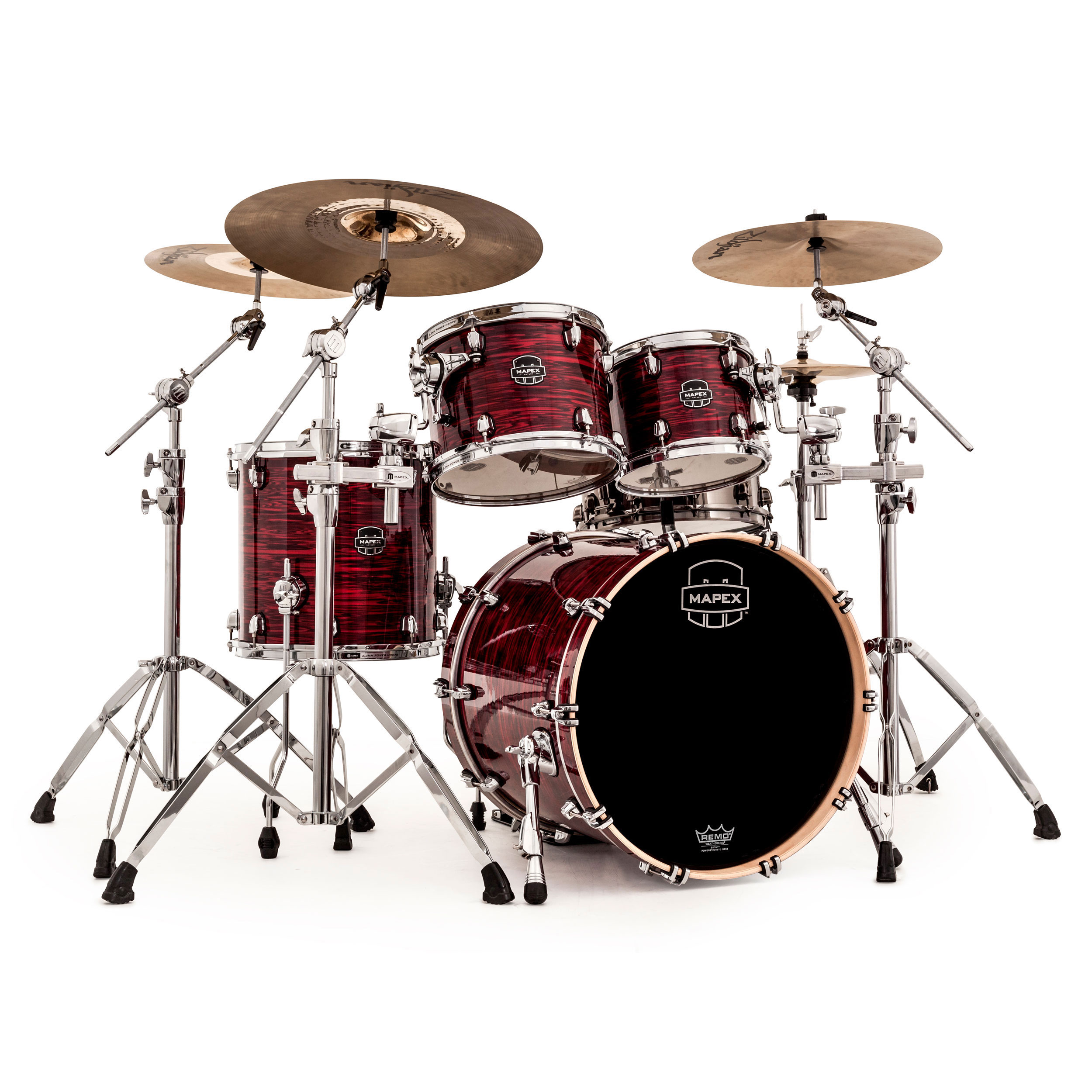 mapex saturn v mh 4 piece fusion drum set shell pack 20 bass 10 12 14 toms sv504x. Black Bedroom Furniture Sets. Home Design Ideas