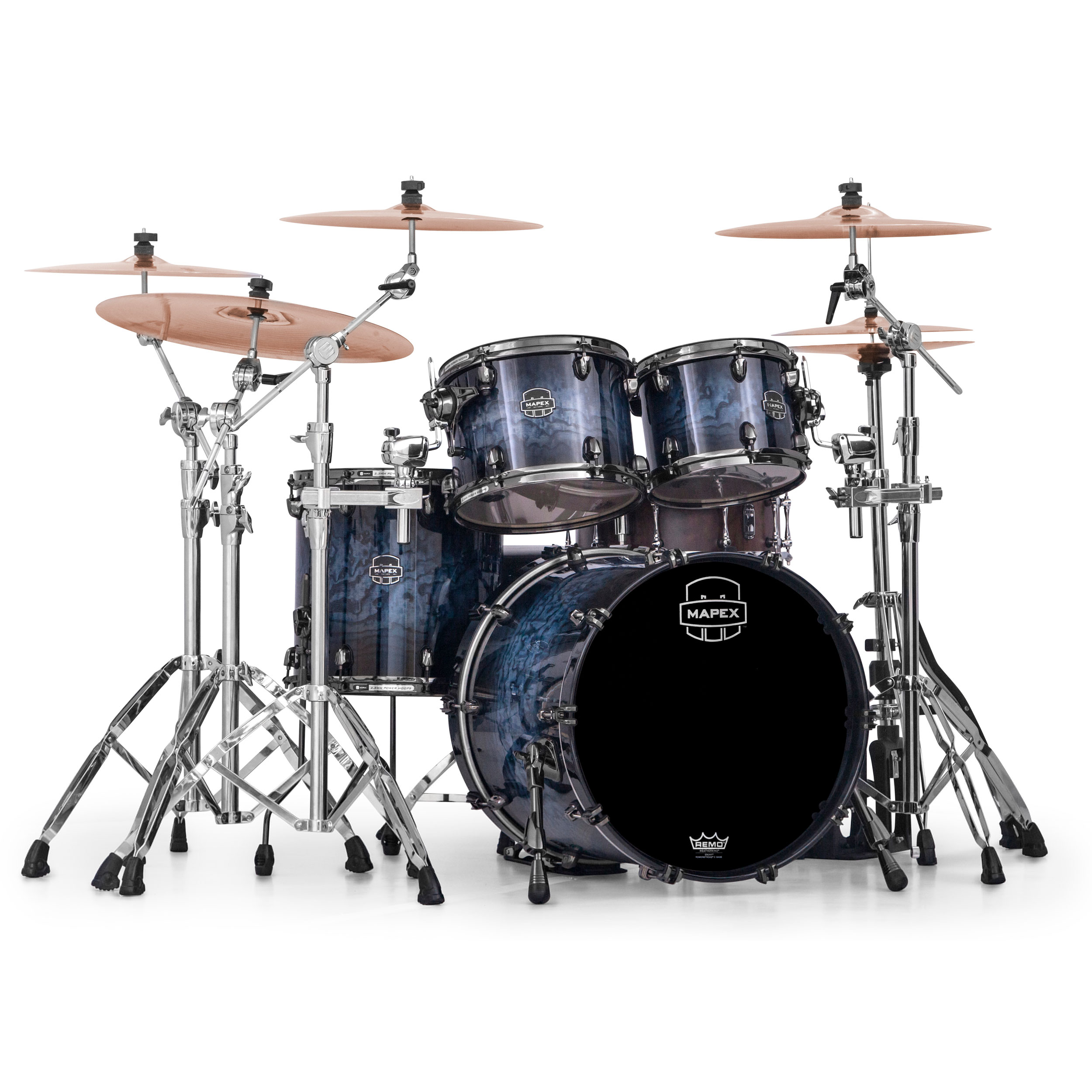 "Mapex Saturn V MH Exotic 4-Piece Fusion Drum Set Shell Pack (20"" Bass, 10/12/14"" Toms)"