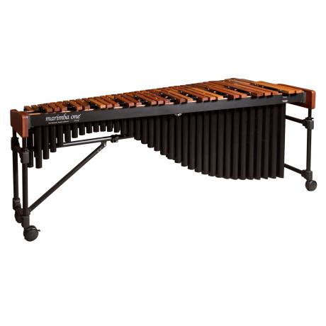 Marimba One 9501 Izzy 5.0 Octave Marimba with Traditional Keyboard/Black Classic Resonators