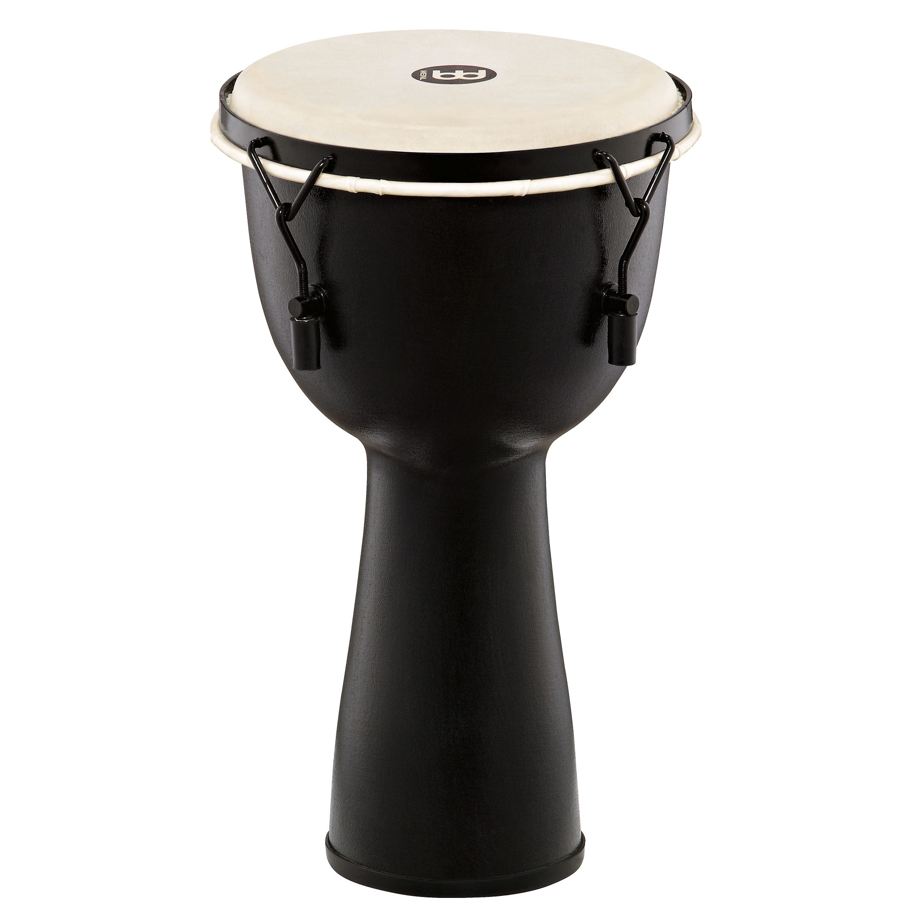 "Meinl 10"" Mechanically-Tuned Fiberglass Djembe with Synthetic Head in Black"