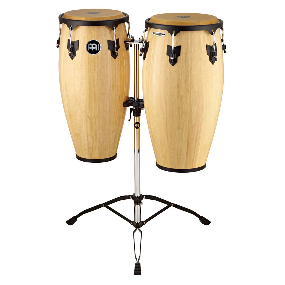 "Meinl 11"" & 12"" Headliner Series Conga Set in Natural with Stand"