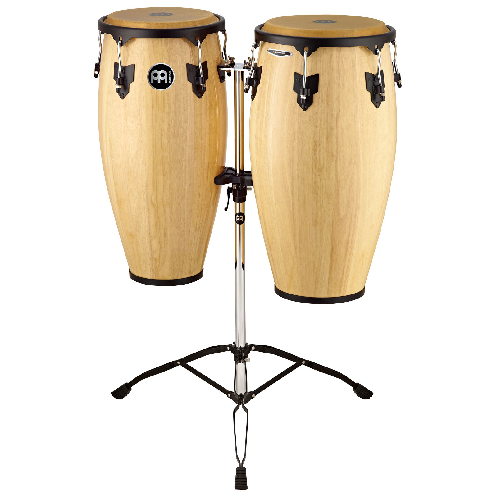 "Meinl 10"" & 11"" Headliner Series Conga Set in Natural with Stand"