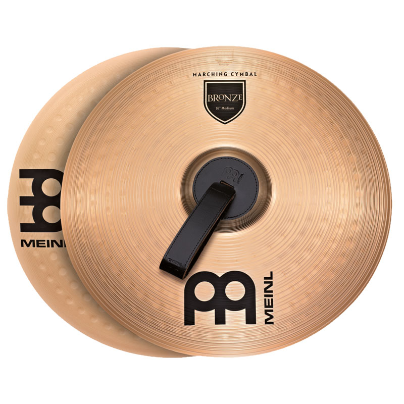 "Meinl 18"" Student Range Bronze Marching Crash Cymbal Pair"