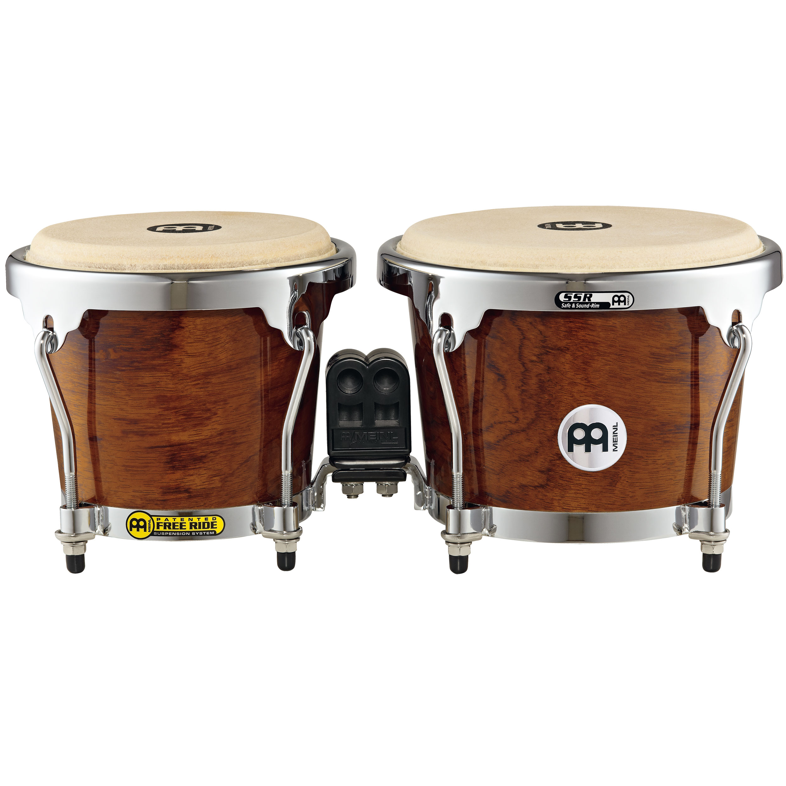 "Meinl 6.75"" & 8"" Radial 5-Ply Construction (RAPC) Wood Bongos in Bubinga"