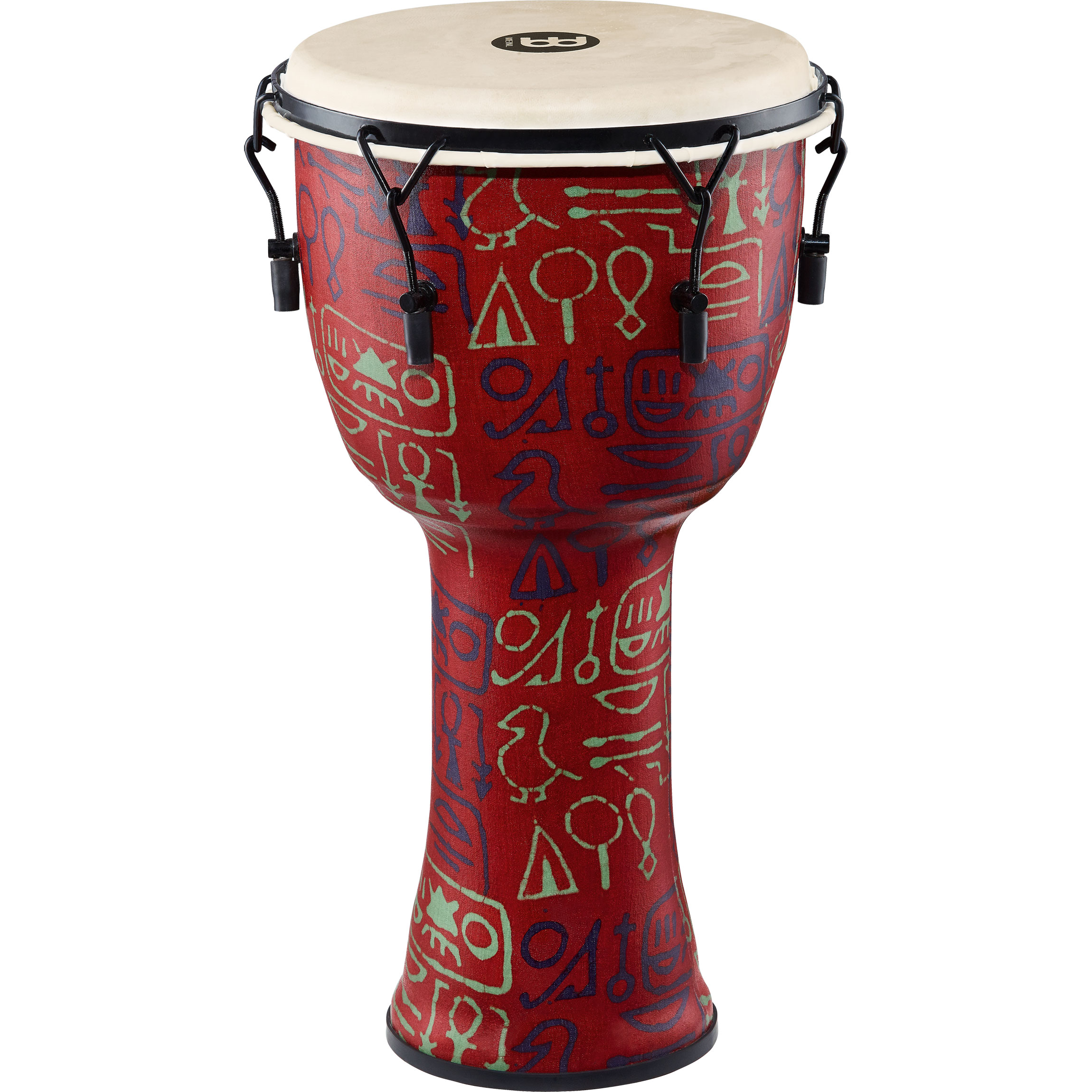"Meinl 12"" Mechanically-Tuned Travel Djembe in Pharaoh"