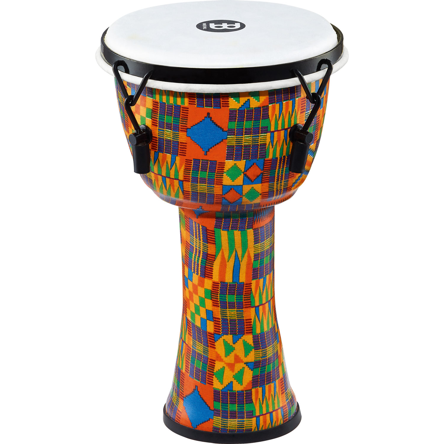 "Meinl 8"" Mechanically-Tuned Travel Djembe in Kenyan Quilt with Synthetic Head"