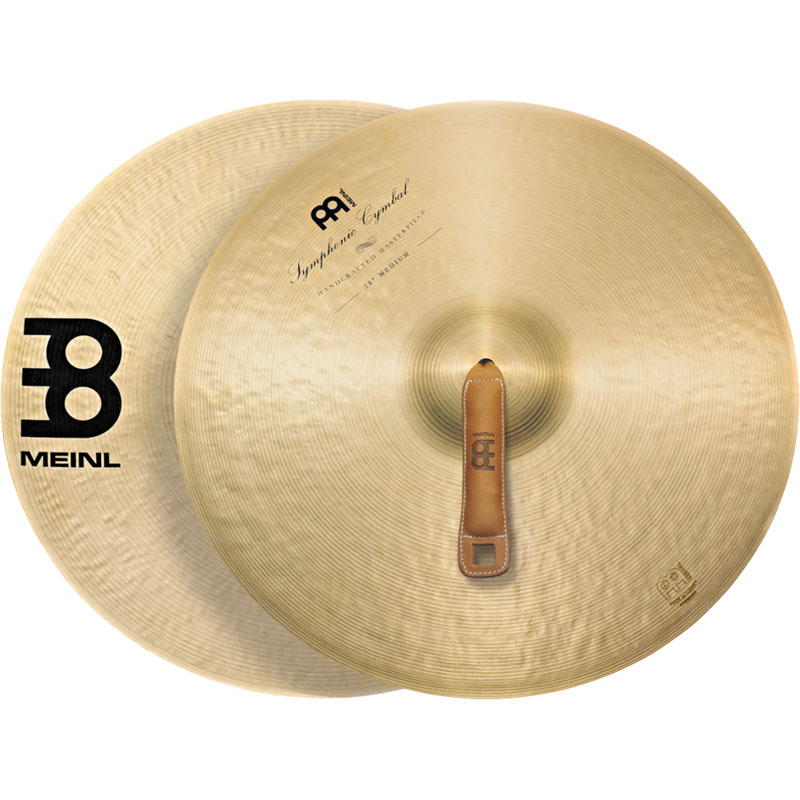 "Meinl 18"" Medium Symphonic Crash Cymbal Pair"