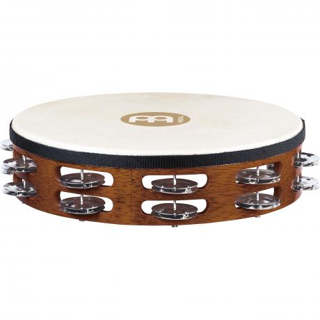 Meinl Traditional Double-Row Steel Tambourine (Natural Head)