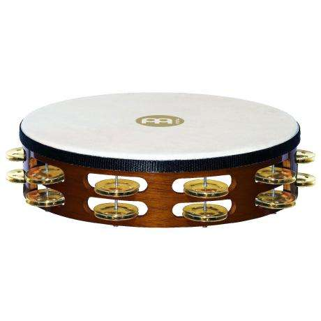 Meinl Wood Double Row Brass Tambourine (Natural Head)