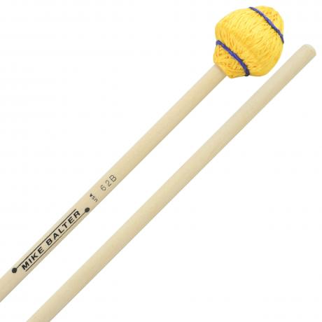 Mike Balter Mushroom Head Medium Hard Vibraphone Mallets with Birch Handles