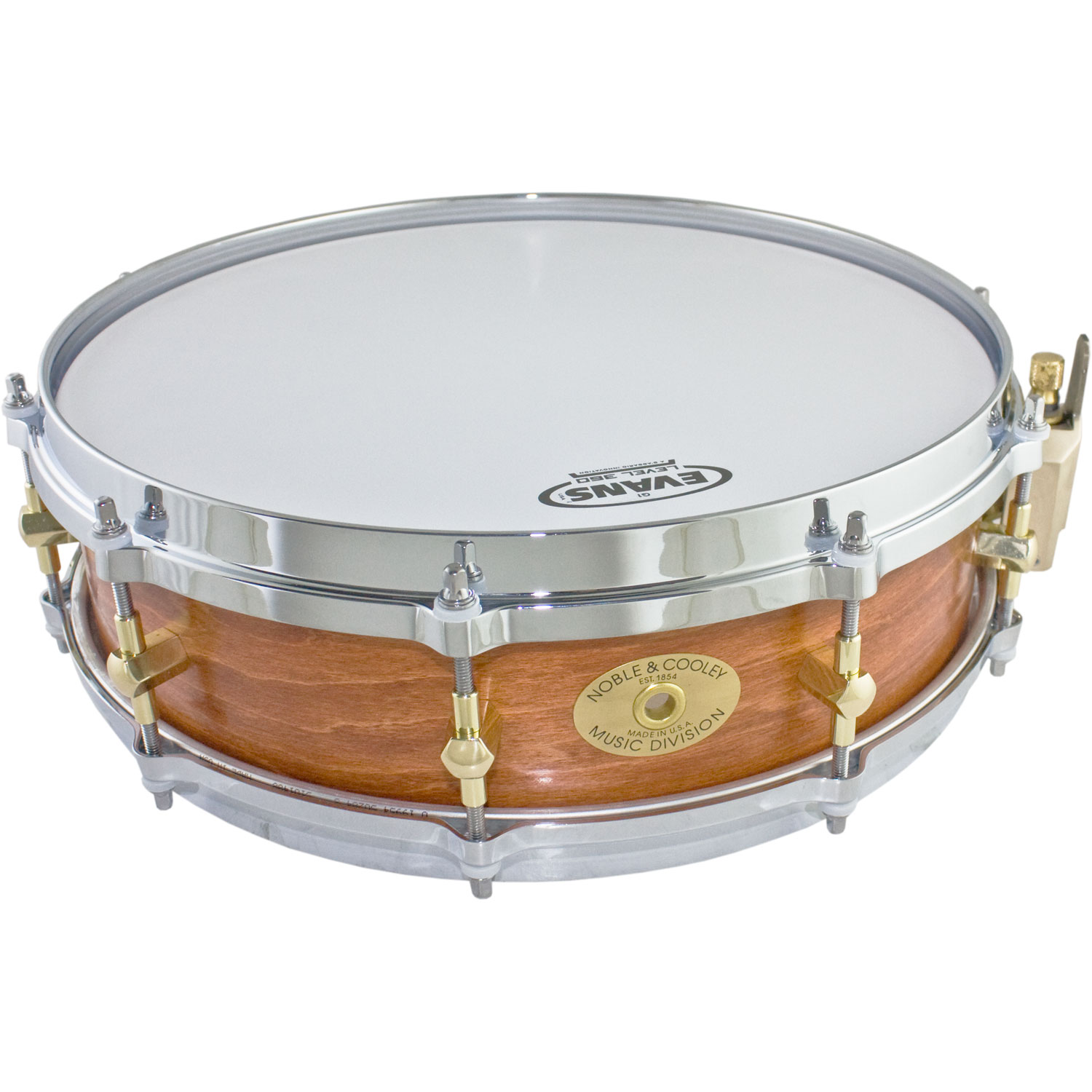 "Noble & Cooley 3 7/8"" x 14"" Classic Solid Shell Maple Piccolo Snare Drum"