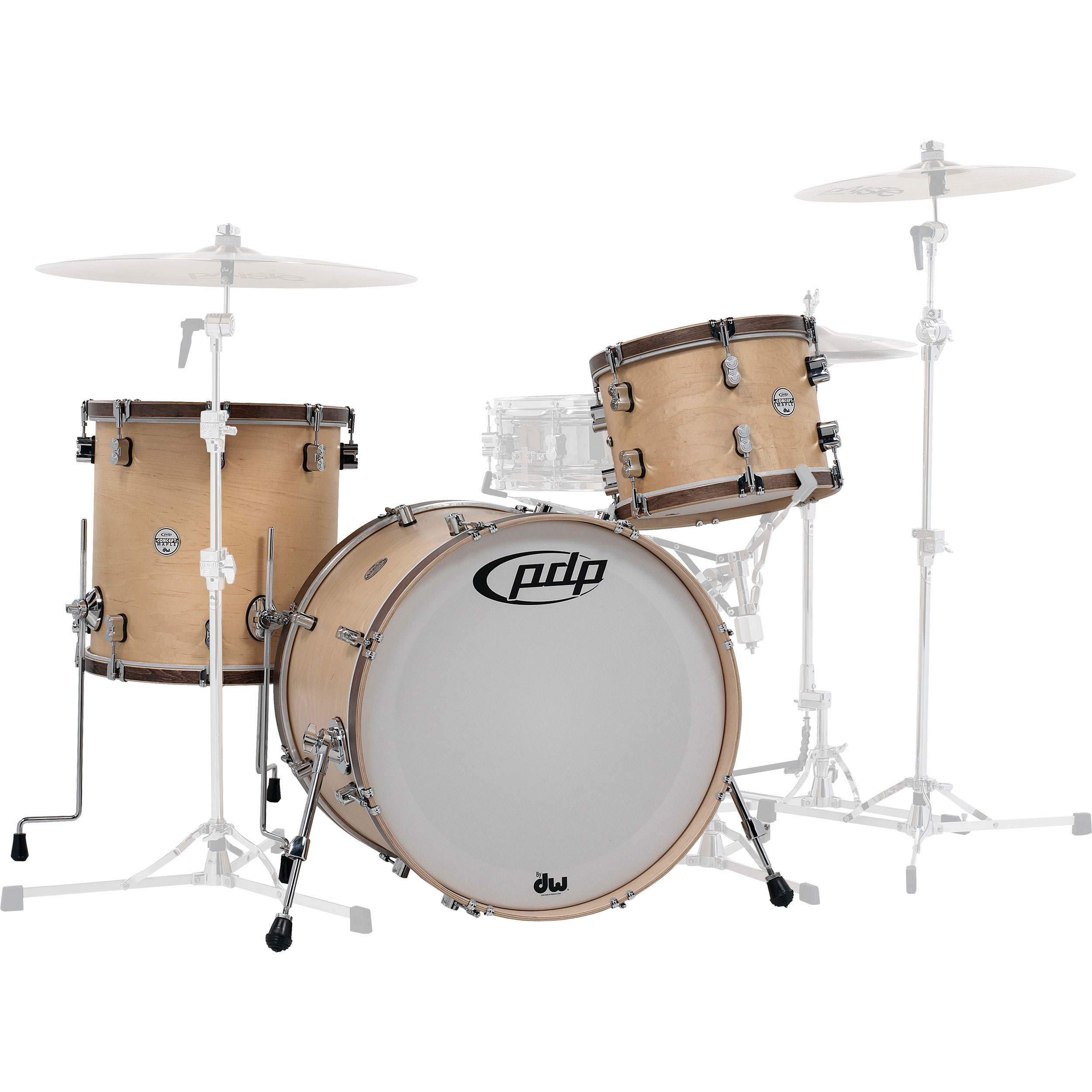 "PDP Concept Maple Classic 3-Piece Drum Set Shell Pack (24"" Bass, 13/16"" Toms)"