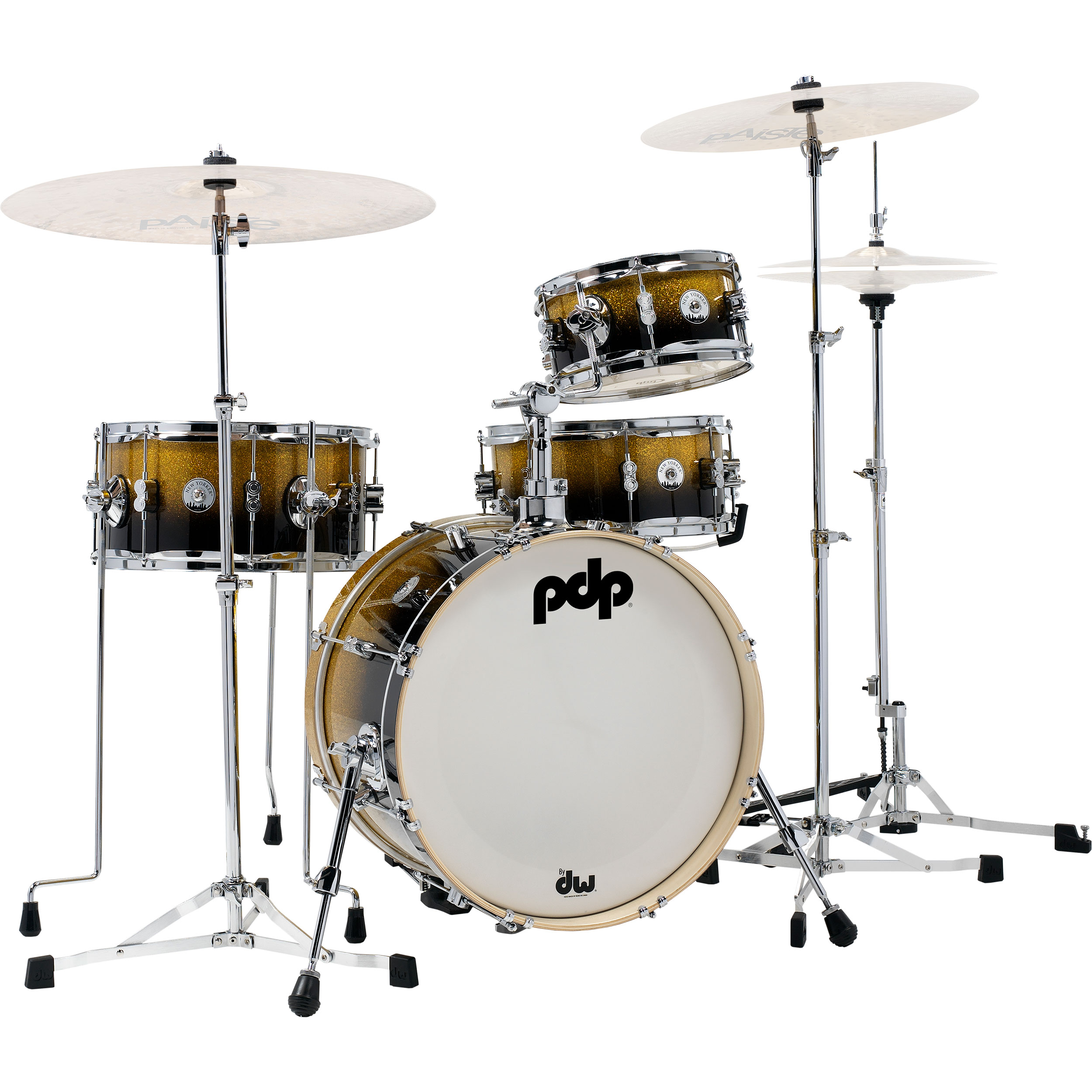 "PDP Daru Jones New Yorker Drum Set with DW 6000 Hardware Pack  & Bags (18"" Bass, 10/14"" Toms, 13"" Snare)"