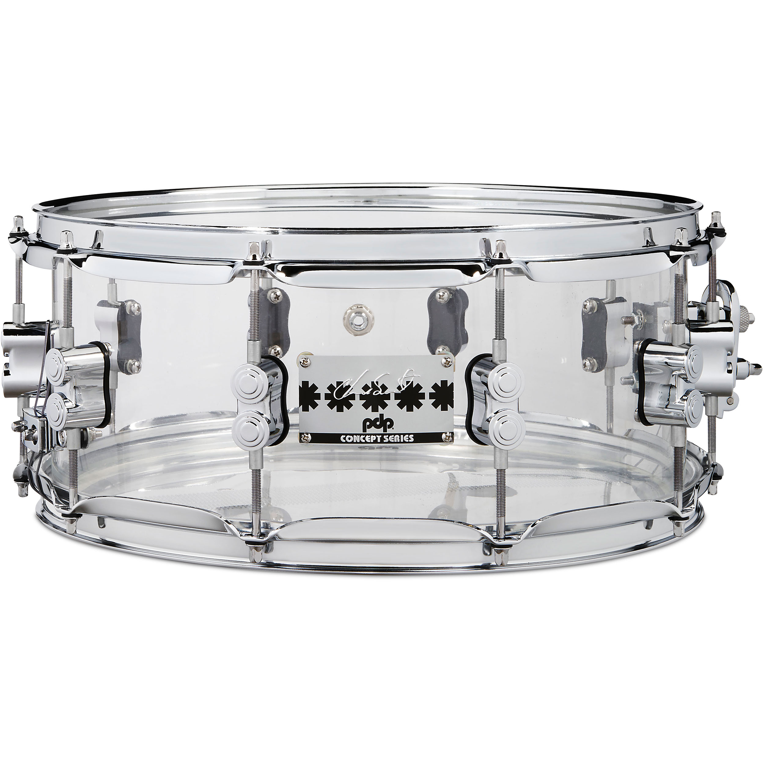 "PDP 6"" x 14"" Chad Smith Signature Clear Acrylic Snare Drum"