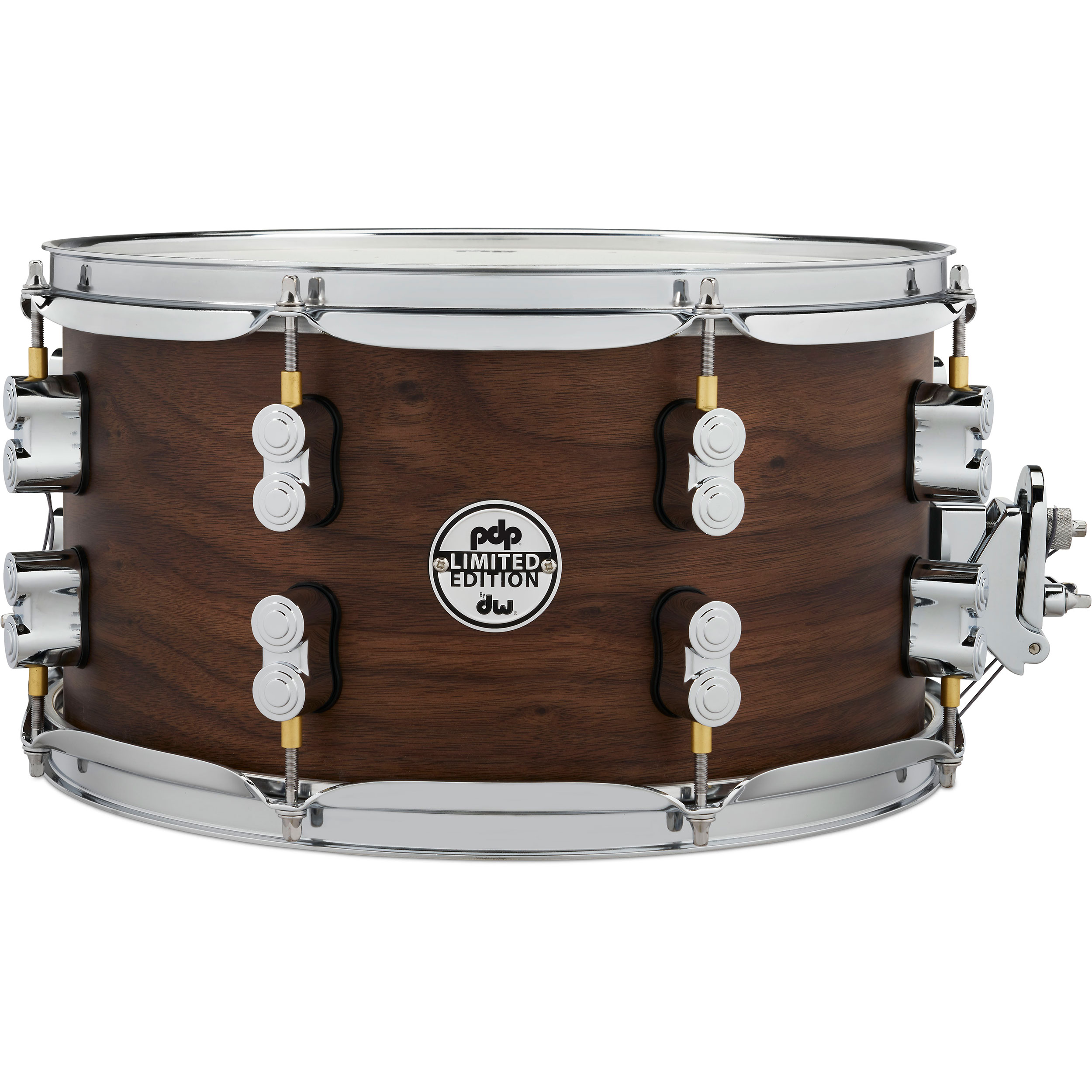 "PDP 7"" x 13"" Limited Edition Series 20-Ply Maple/Walnut Snare Drum in Natural Satin"