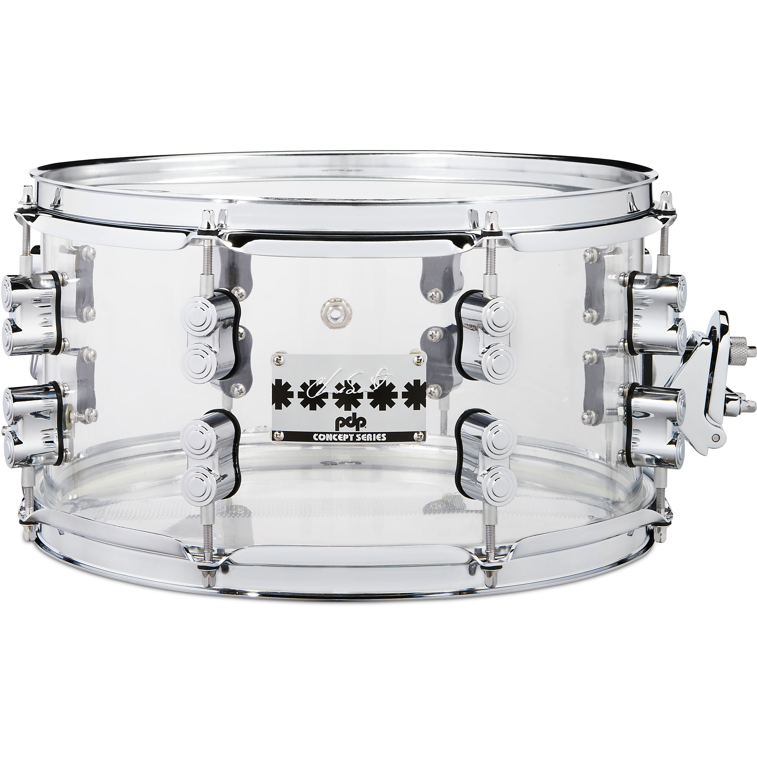 "PDP 7"" x 13"" Chad Smith Signature Clear Acrylic Snare Drum"