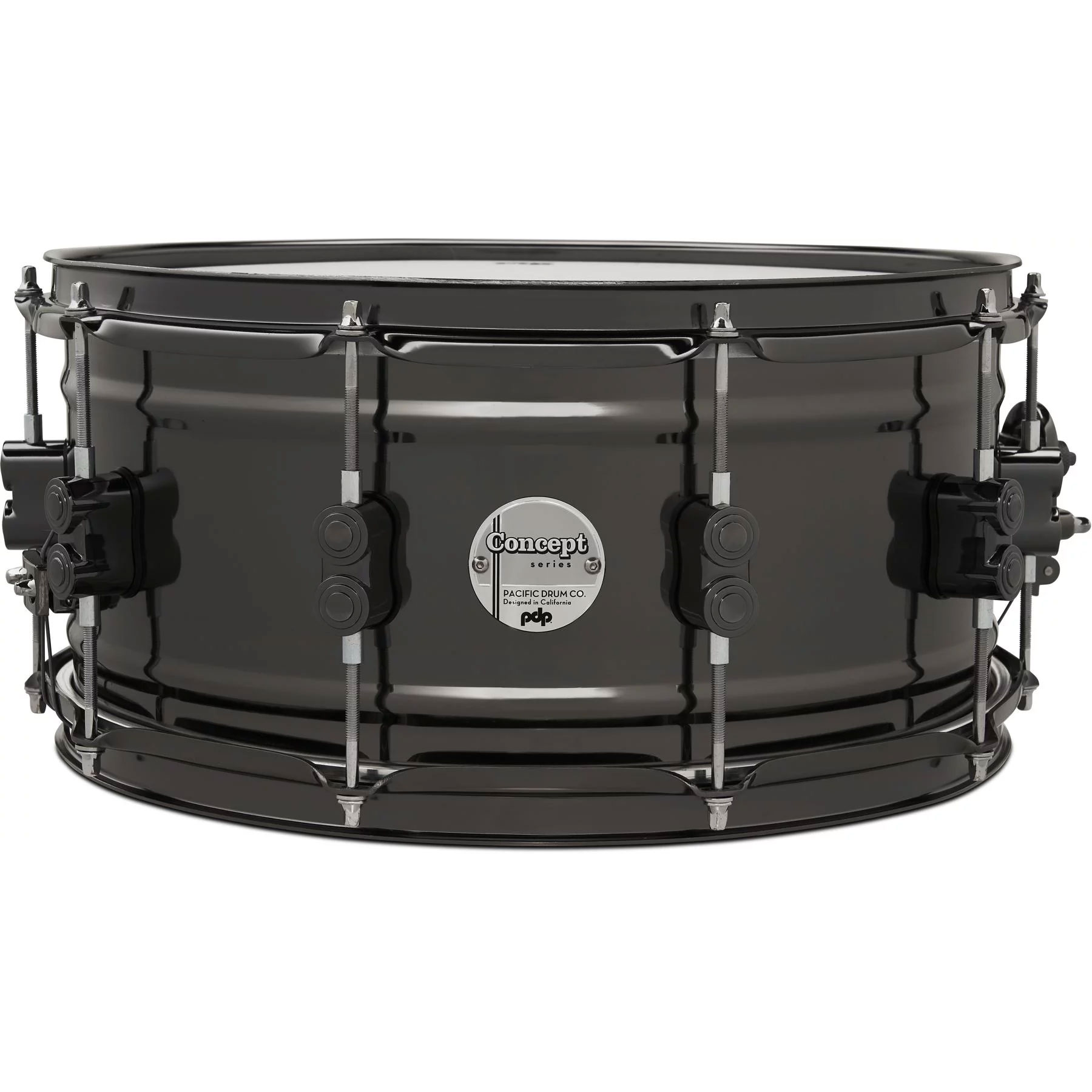 "PDP 6.5"" x 14"" Concept 1mm Black Nickel Over Brass Snare Drum"
