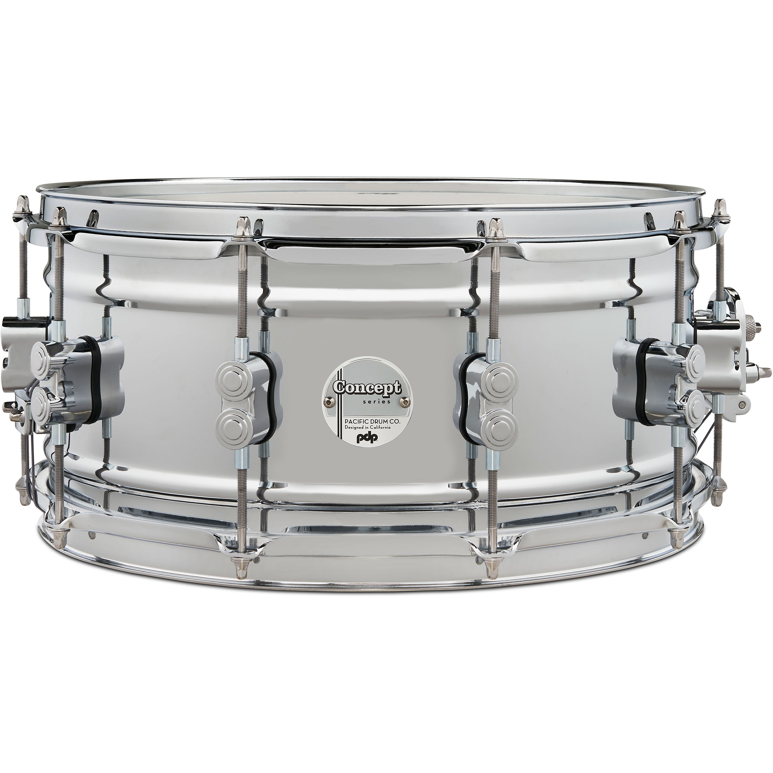 "PDP 6.5"" x 14"" Concept 1mm Chrome Over Steel Snare Drum"