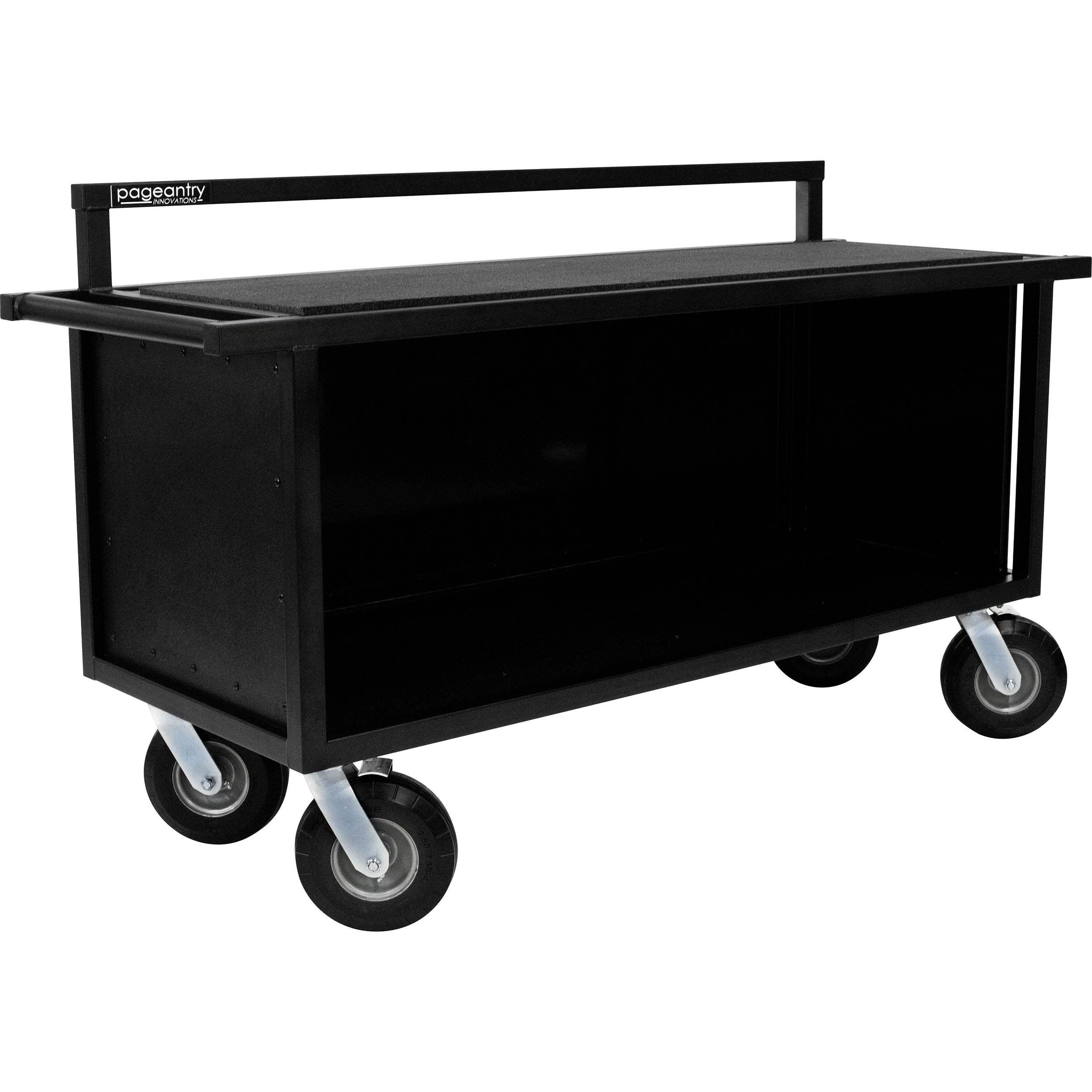 "Pageantry Innovations Stealth Series Partially Enclosed Synthesizer Cart (39"" H x 68"" W x 24"" D)"