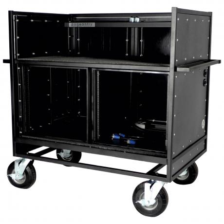 Pageantry Innovations Standard Double Mixer Cart with Bi-Fold Top Cover