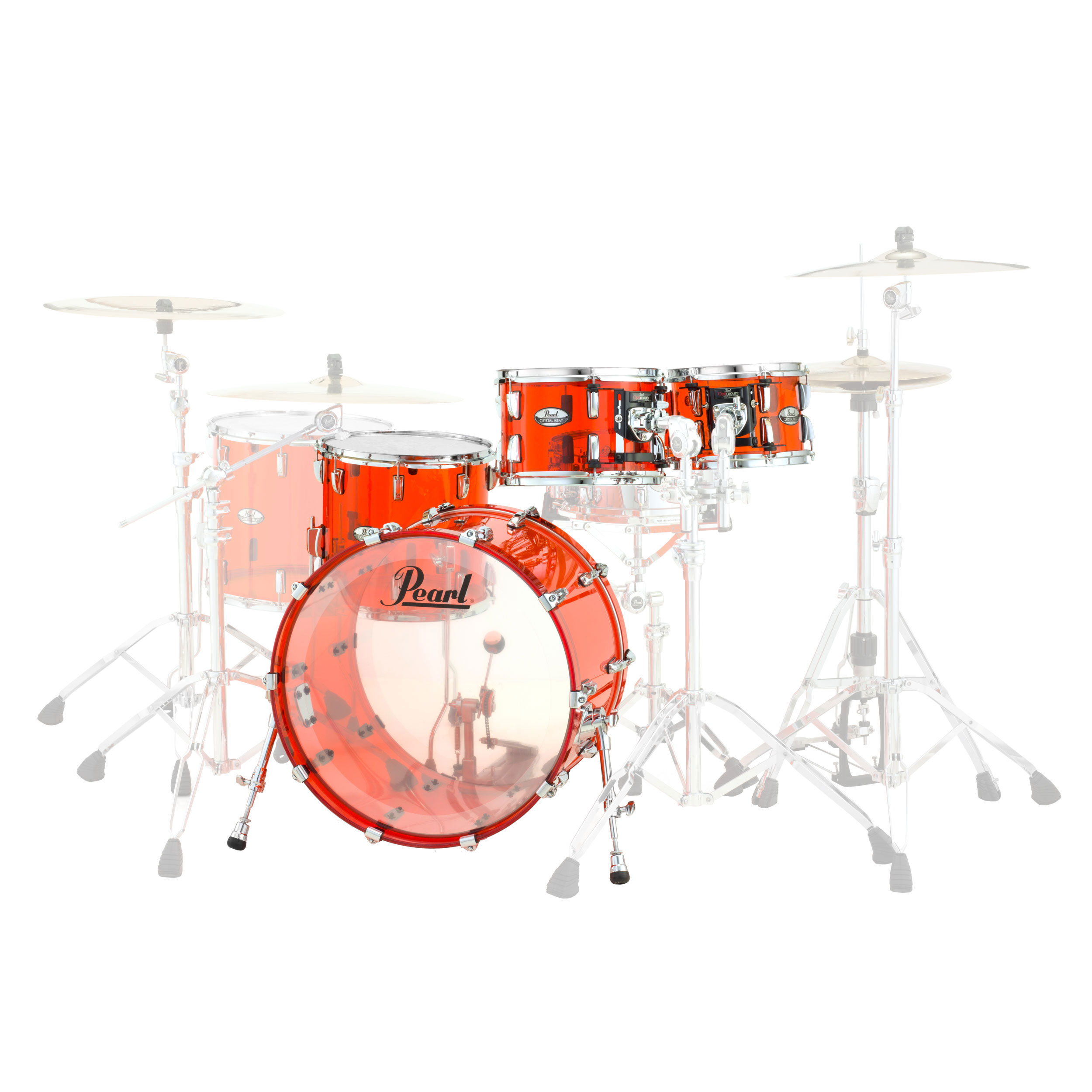 "Pearl Crystal Beat ""The Standard"" Acrylic 4-Piece Drum Set Shell Pack (22"" Bass, 10/12/16"" Toms)"