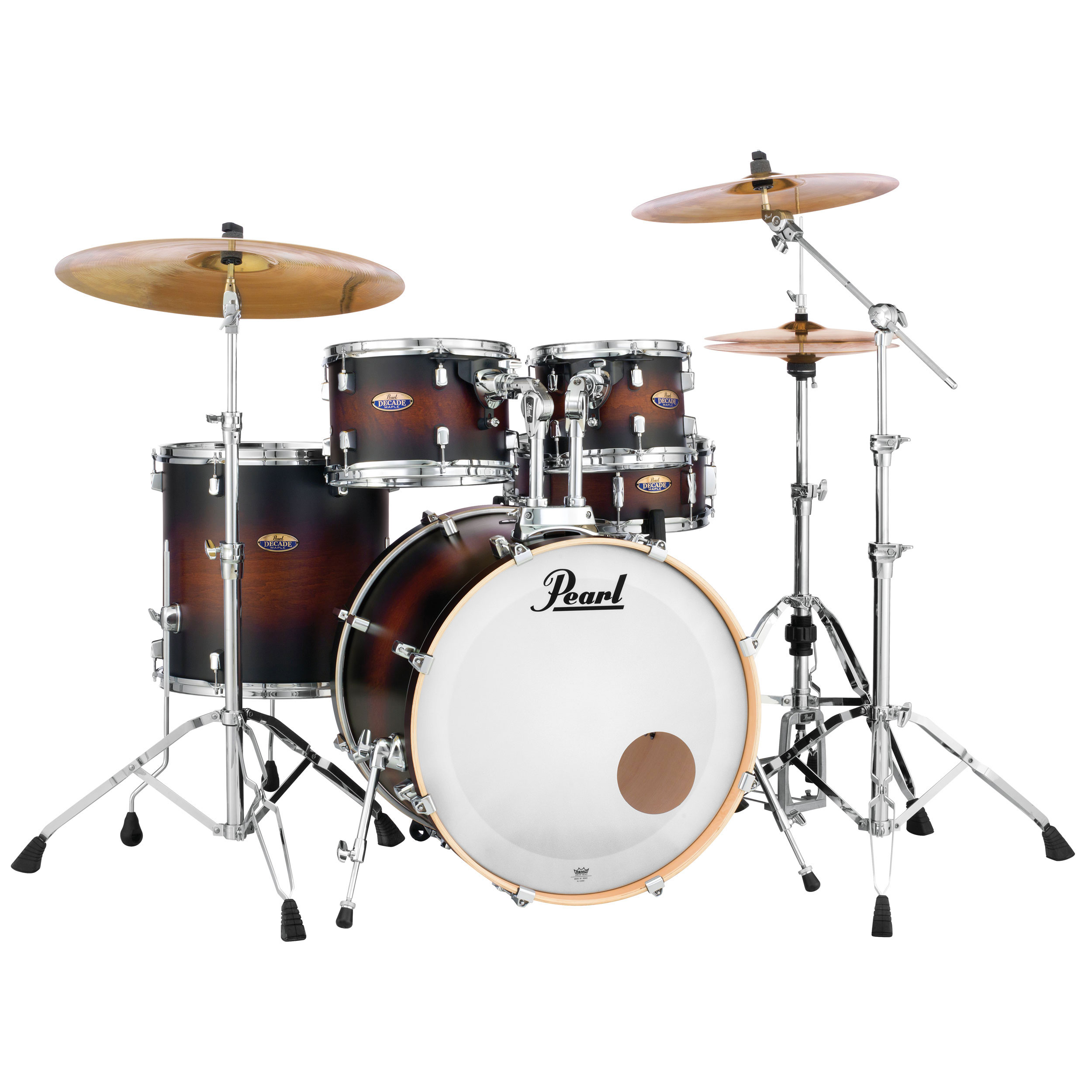 """Pearl Decade Maple 5-Piece Drum Set Shell Pack (22"""" Bass, 10/12/16"""" Toms, 14"""" Snare) in Lacquer Finish"""