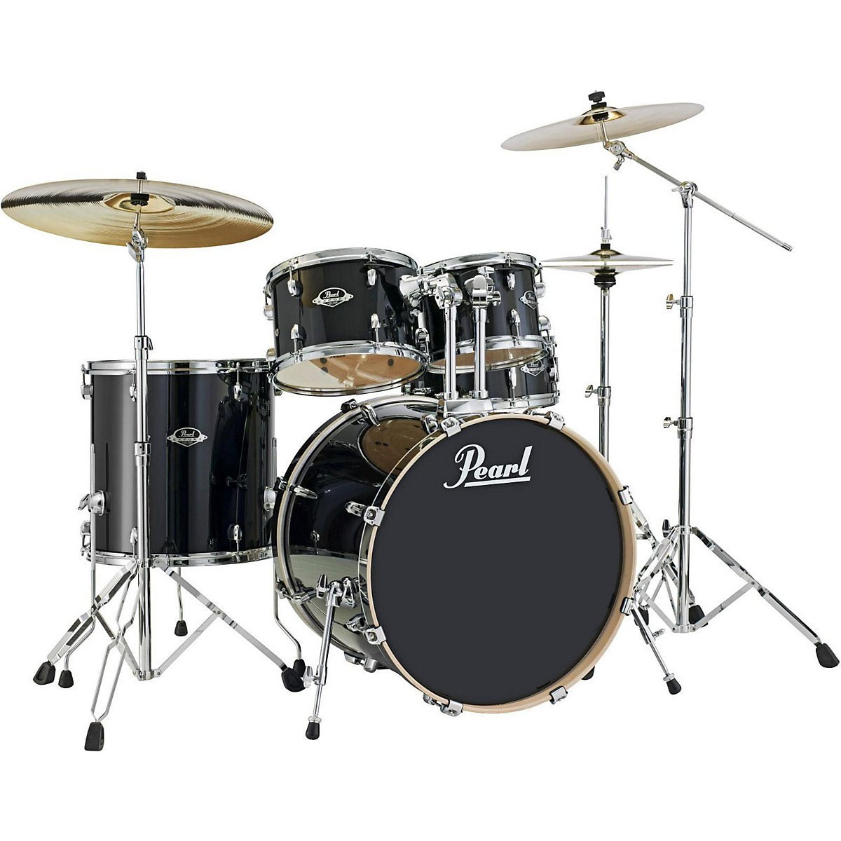 "Pearl EXL Export Lacquer 5-Piece Drum Set with Hardware (22"" Bass, 12/13/16"" Toms, 14"" Snare)"