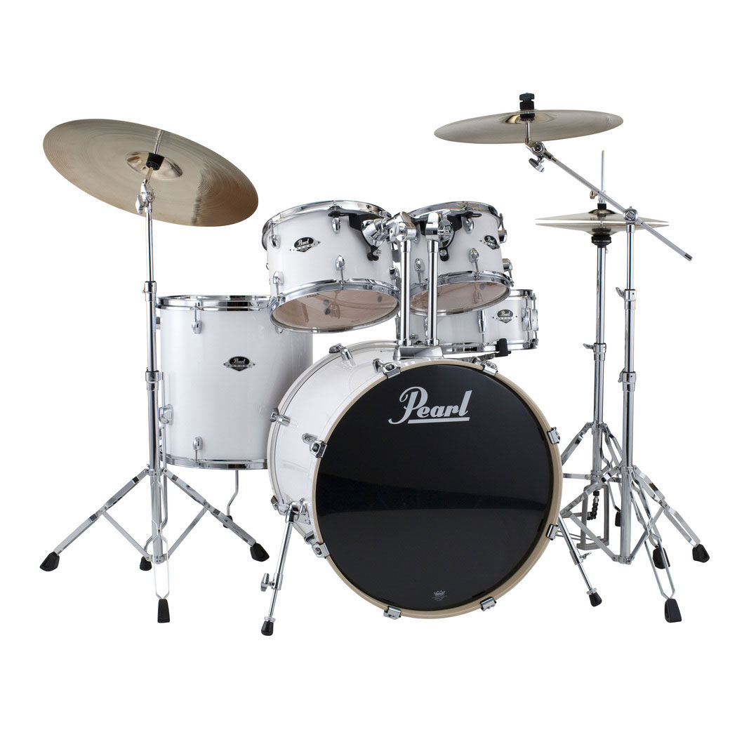 pearl exx export 5 piece drum set with hardware 20 bass 14 snare 10 12 14 toms exx705. Black Bedroom Furniture Sets. Home Design Ideas